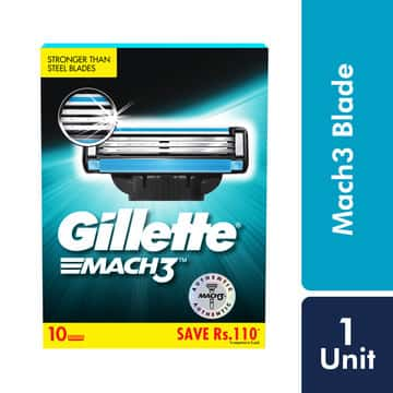 Gillette Mach 3 Shaving Blades Pack Of 10