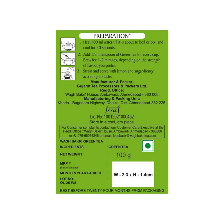 Wagh Bakri Green Tea Leaf, 100 Grams