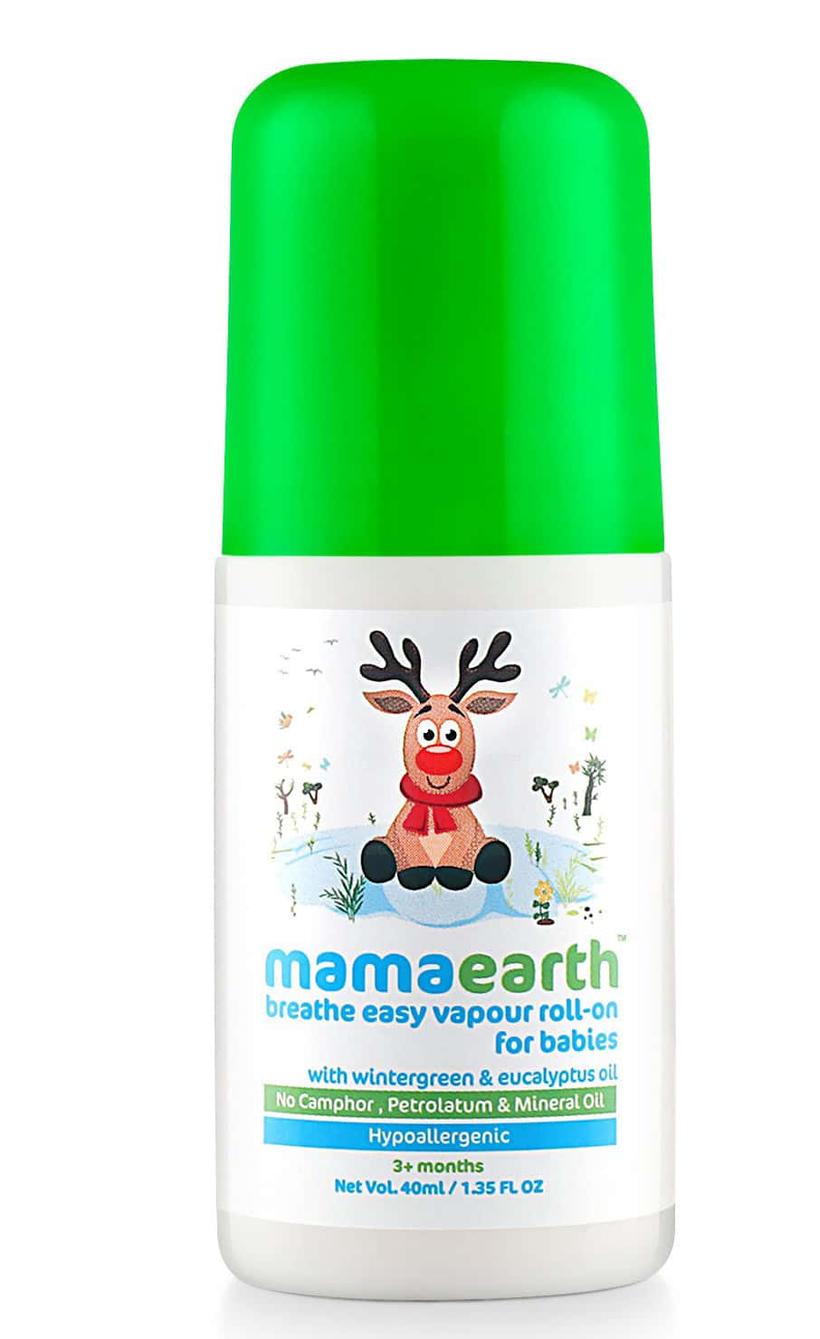 Mamaearth's Natural Breathe Easy Cold & Cough Roll-on Tube Of 40 Ml