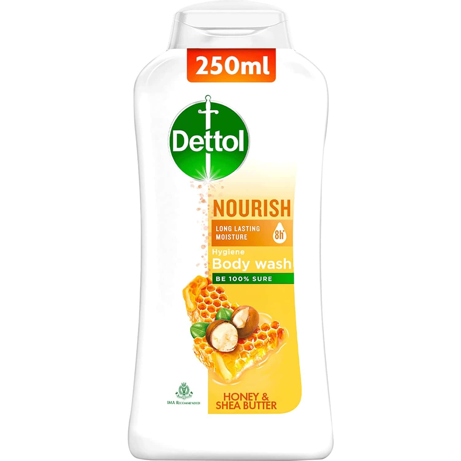 Dettol Body Wash And Shower Gel For Women And Men, Nourish - 250ml