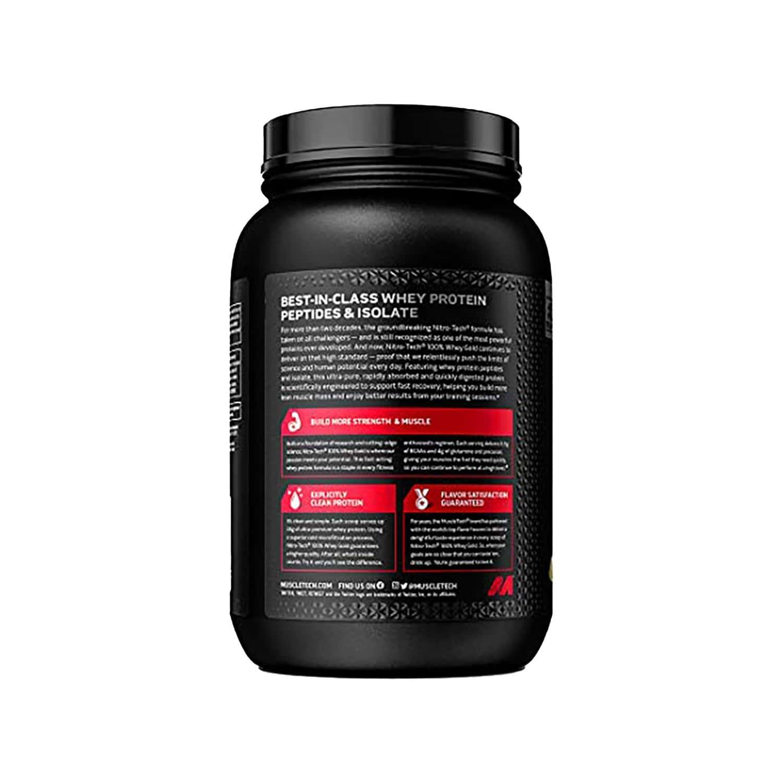 Muscletech French Vanilla Creme Nitro-tech Whey Gold Protein Powder Isolate For Women & Men - 1200 Gm