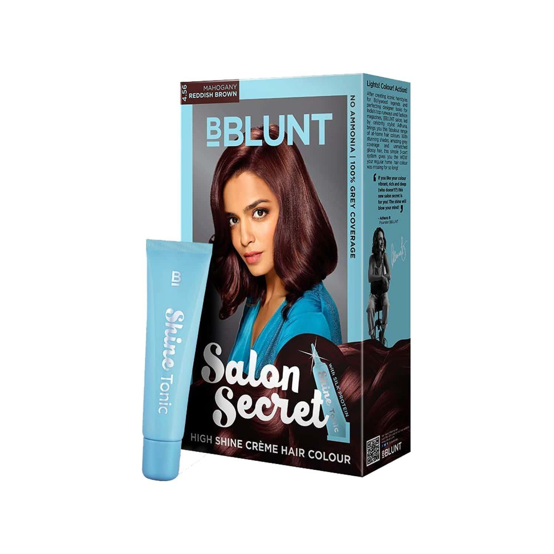 Bblunt Salon Secret High Shine Crme Hair Colour Mahogany Reddish Brown - 100 Gm