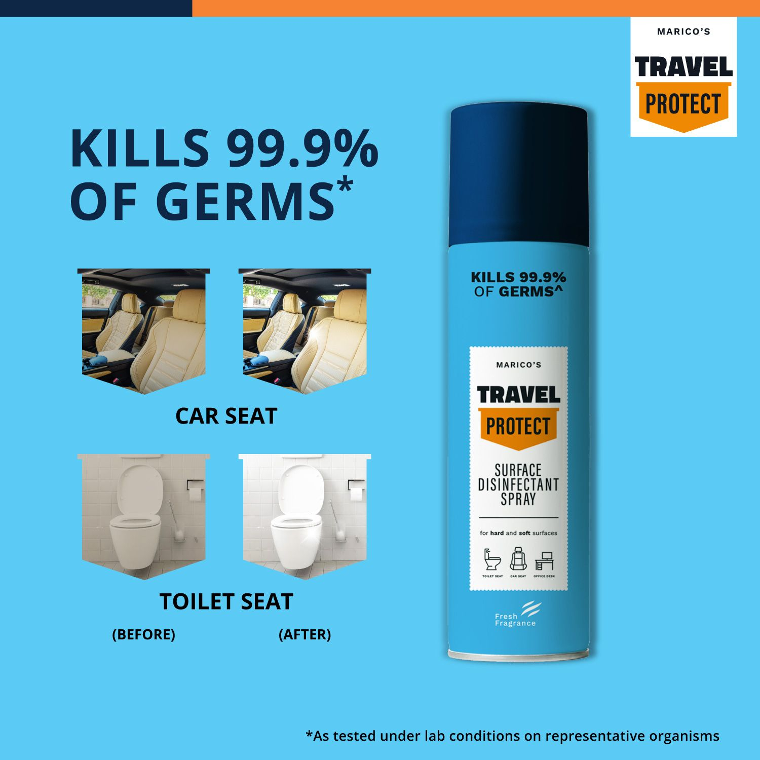 Marico's Travel Protect Surface Disinfectant Spray - 200 Ml