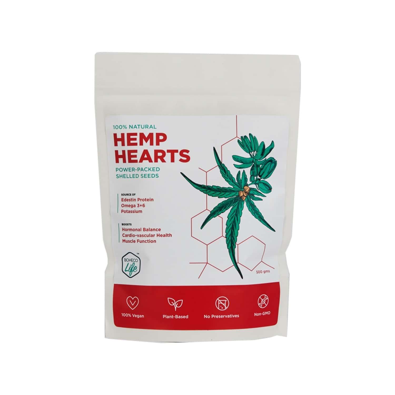 Boheco Life  Hemp Hearts Seeds  Packet Of 500 G