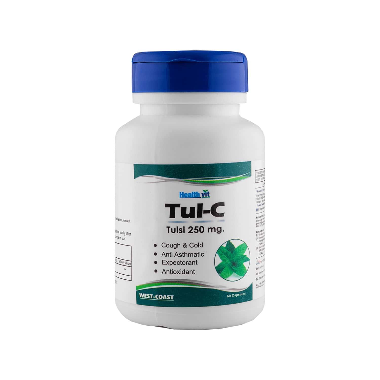 Healthvit Tul-c Tulsi Powder 250 Mg -60 Capsules