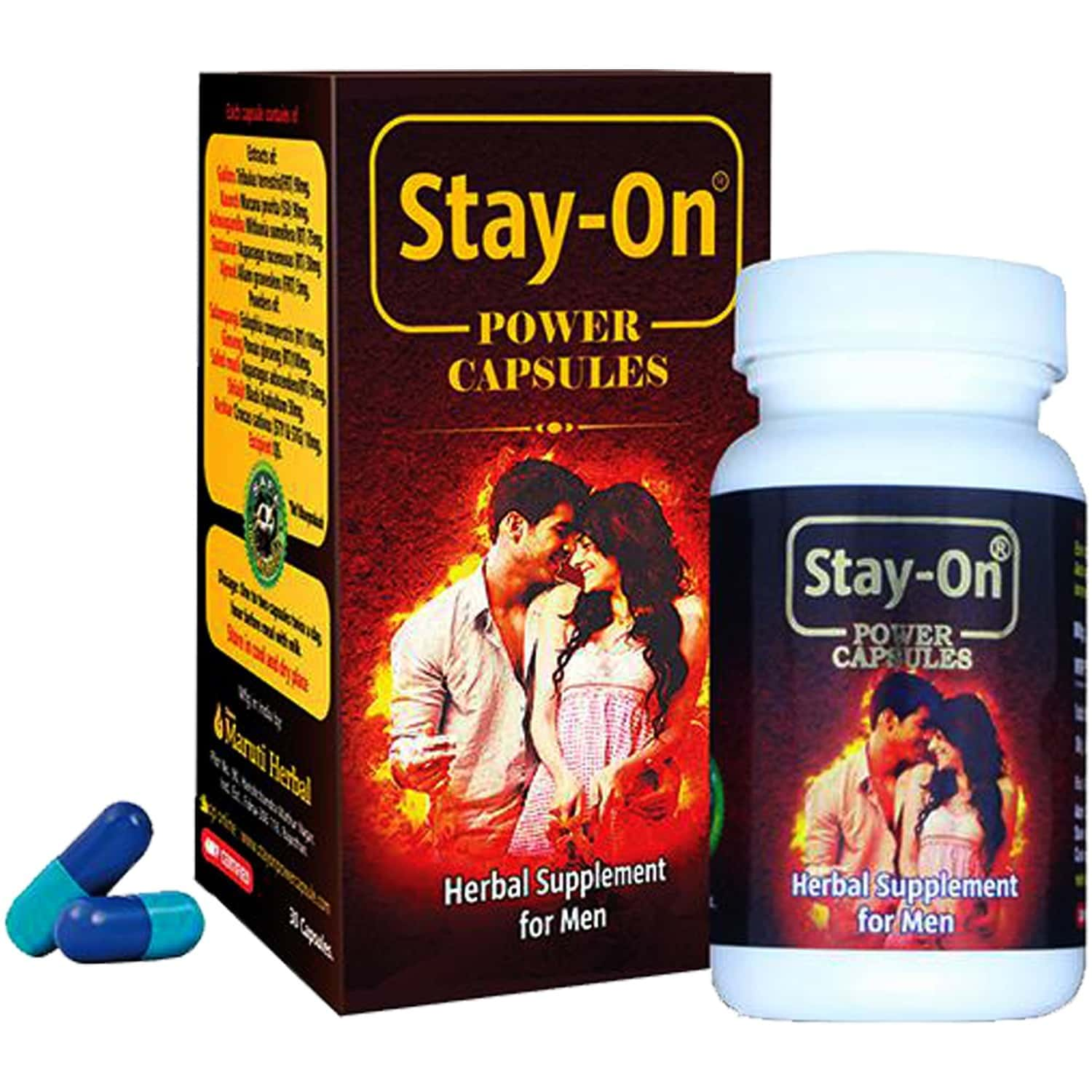 Stay-on Power Herbal Supplement For Strength & Stamina For Men (pack Of 30 Capsules)