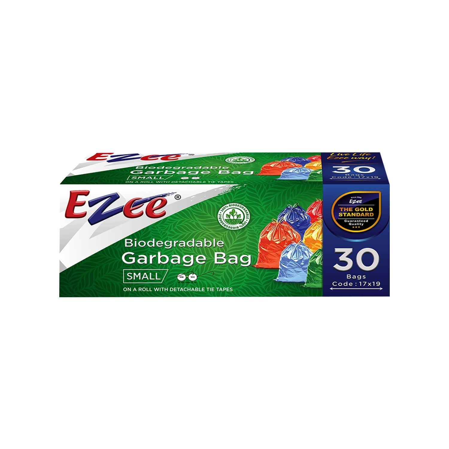 Ezee Bio-degradable Small  Garbage Bags (17 X 19 Inches) Packet Of 30