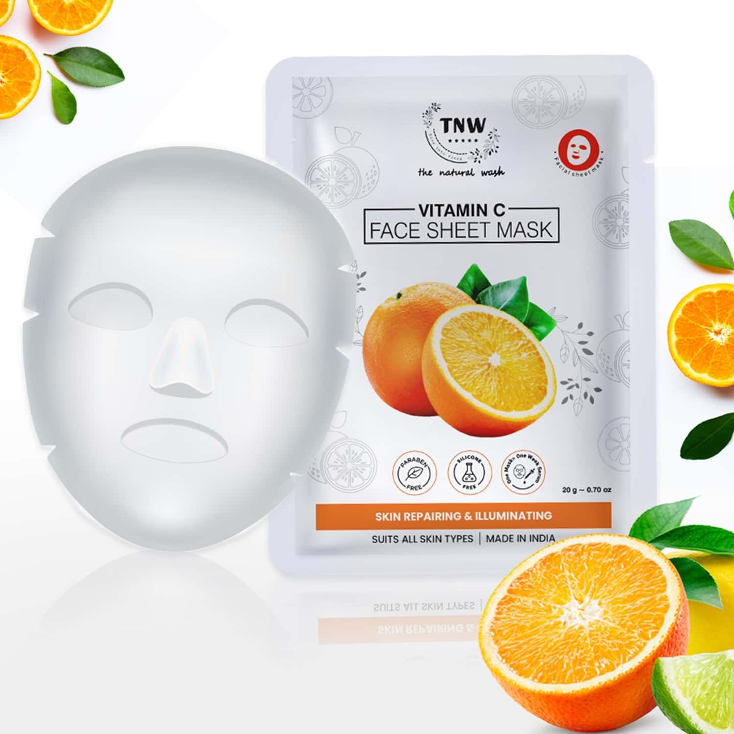 Tnw - The Natural Wash Vitamin C Face Sheet Mask - Pack Of 2