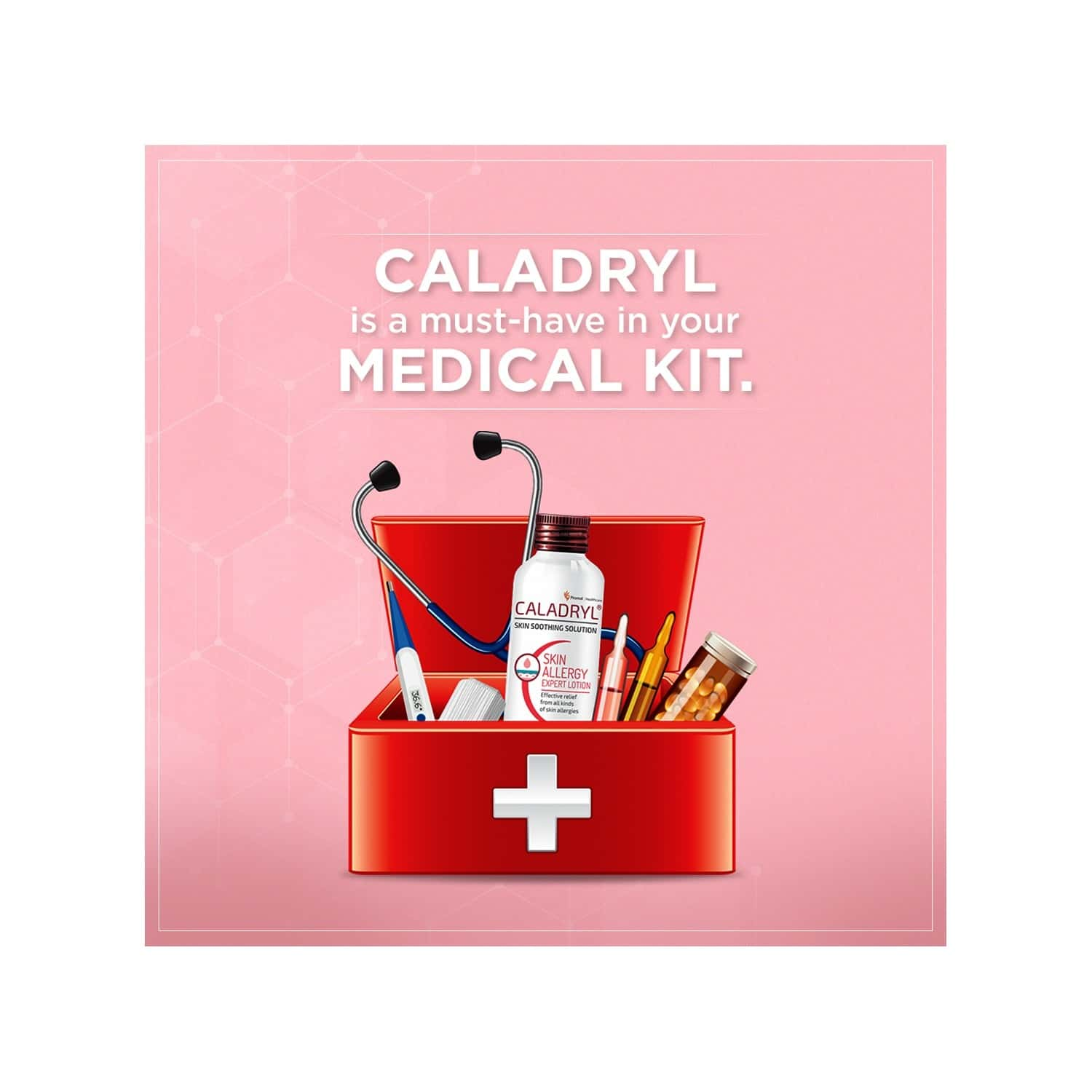 Caladryl Skin Allergy Expert Calamine Lotion - Skin Soothing Solution - 120 Ml