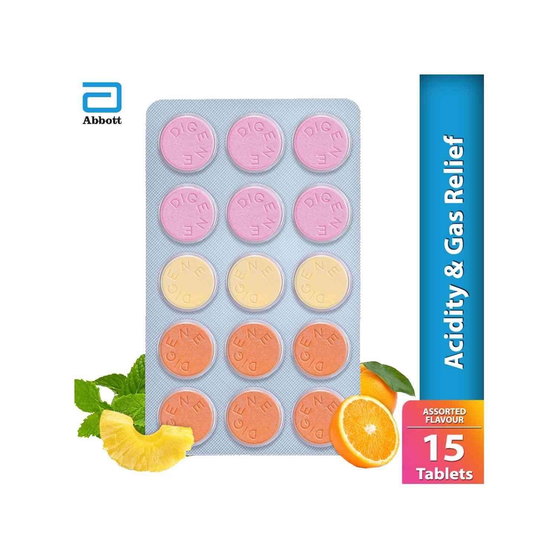Digene Assorted Antacid Tablets  Strip Of 15