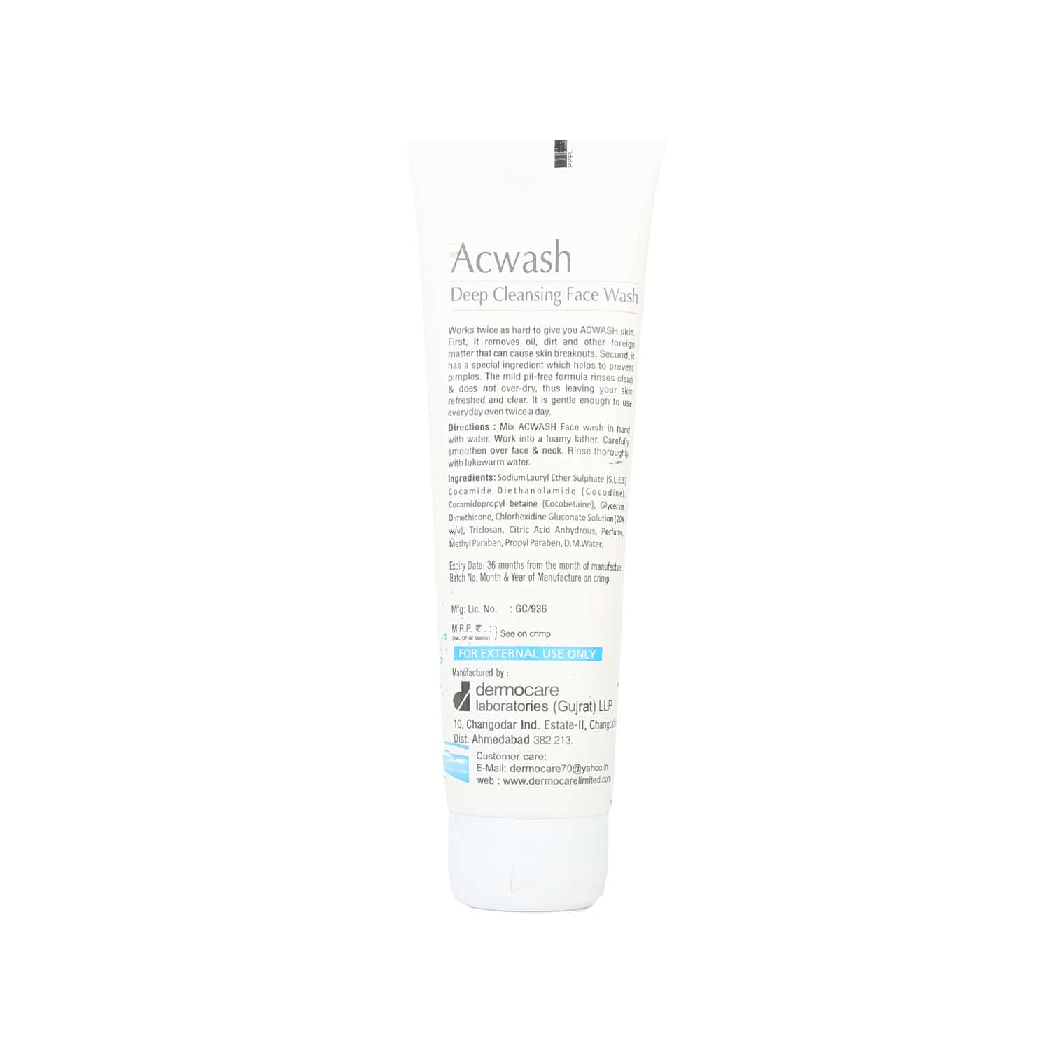 Acwash  Deep Cleanse Face Wash  Tube Of 100 Ml