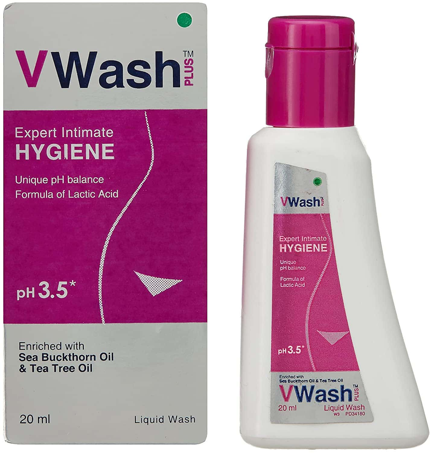 Vwash Plus Ph 3.5 Liquid Wash 20ml