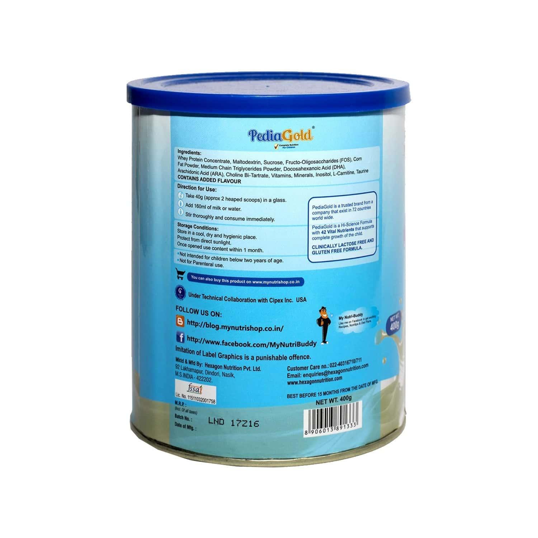 Pedia Gold Vanilla Nutrition Drink Tin Of 400 G