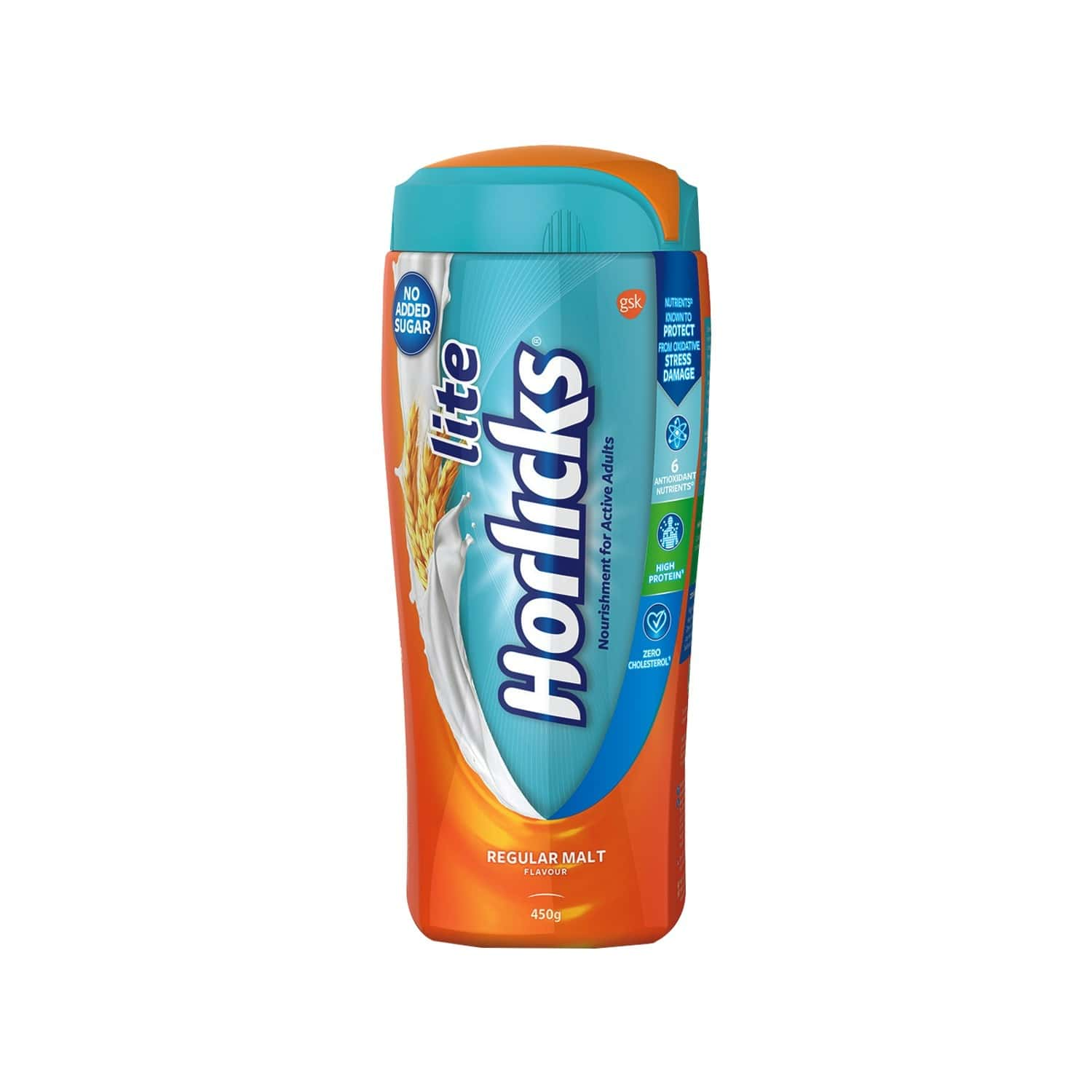 Horlicks Lite Regular Malt Nutrition Drink Jar Of 450 G