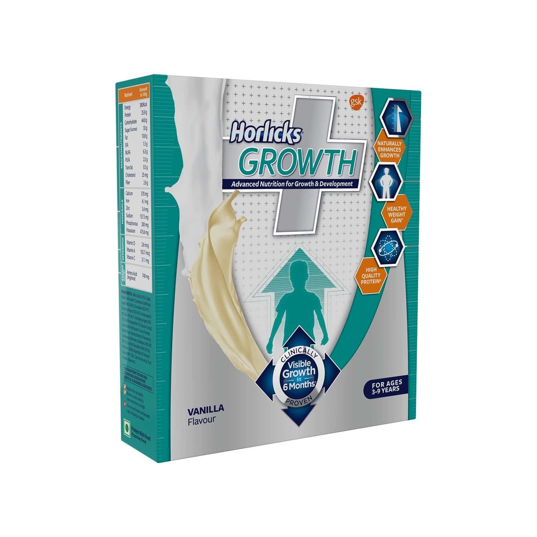 Horlicks Growth Plus Vanilla Nutrition Drink Refill Of 200 G