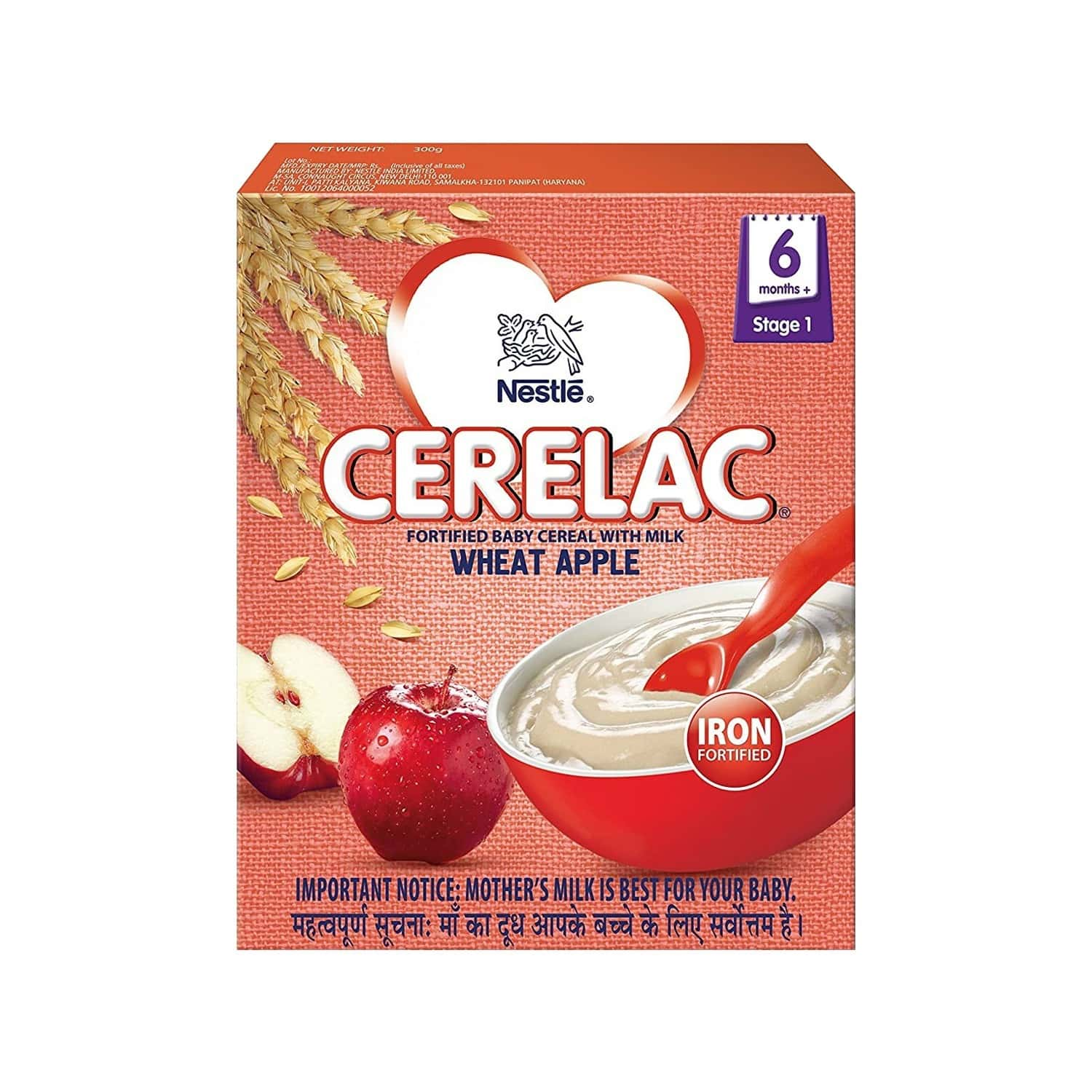 Nestle Cerelac Stage 1 Wheat Apple Baby Food Refill Of 300 G
