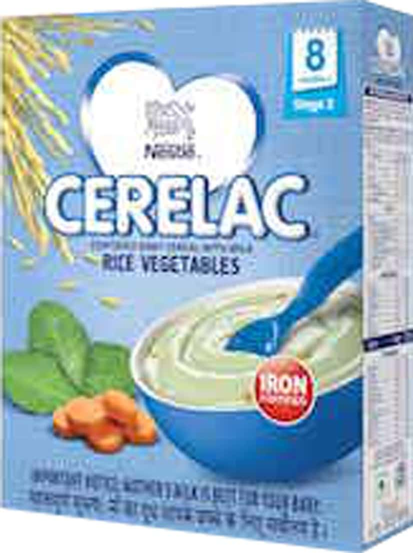 Nestle Cerelac Baby Cereal With Milk, Rice Vegetables From 8 Months, 300g Bag-in-box Pack