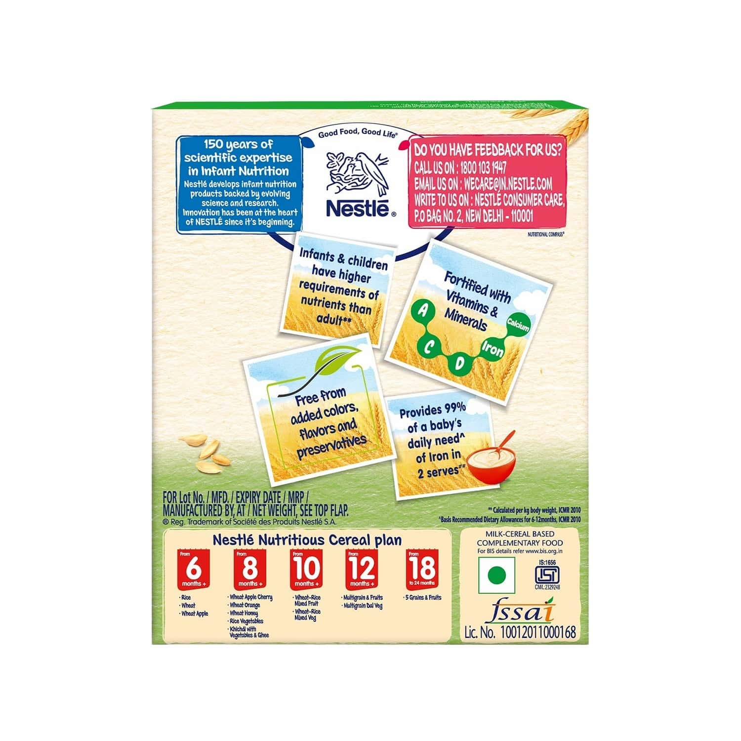 Nestle Cerelac Baby Cereal With Milk, Wheat-rice Mixed Veg From 10 Months, 300g Bag-in-box Pack