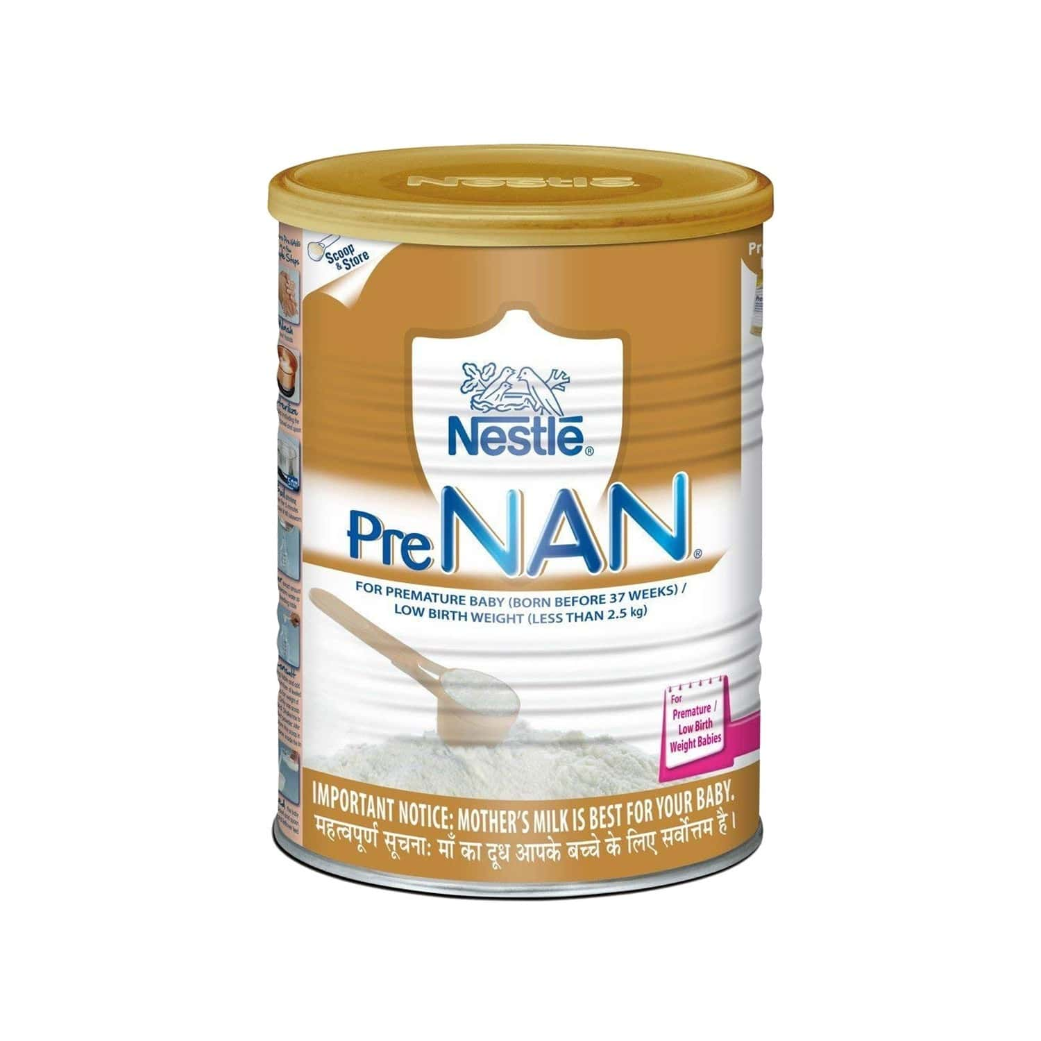 Nestle Pre Nan Baby Food Low Birth Weight Infant Milk Formula Tin Of 400 G