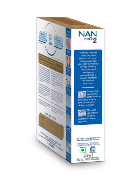 Nestle Nan Pro 2 Follow Up Infant Formula Baby Food (after 6 Months) Refill Of 400 G