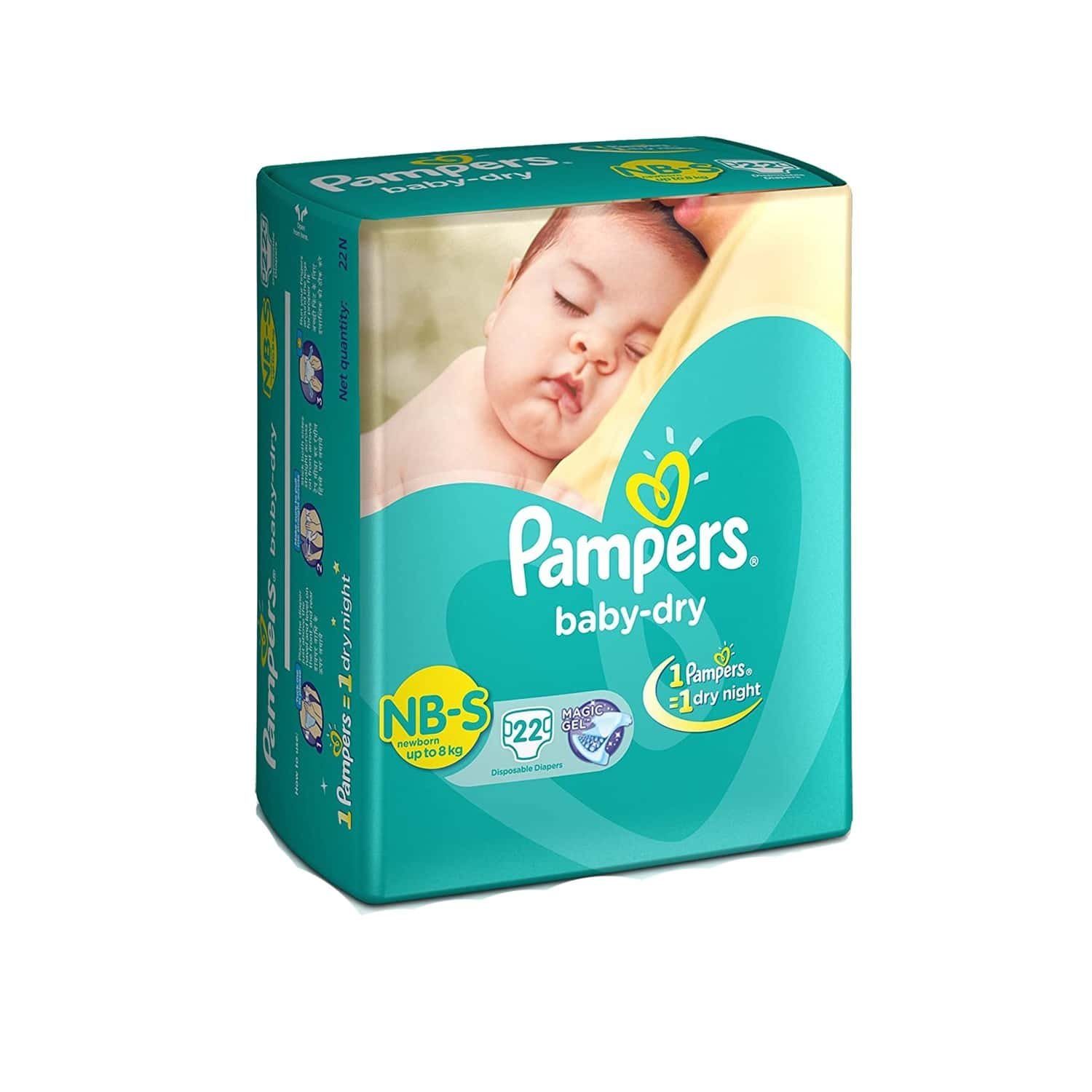 Pampers Baby Diapers Taped Small Size 22 Pieces
