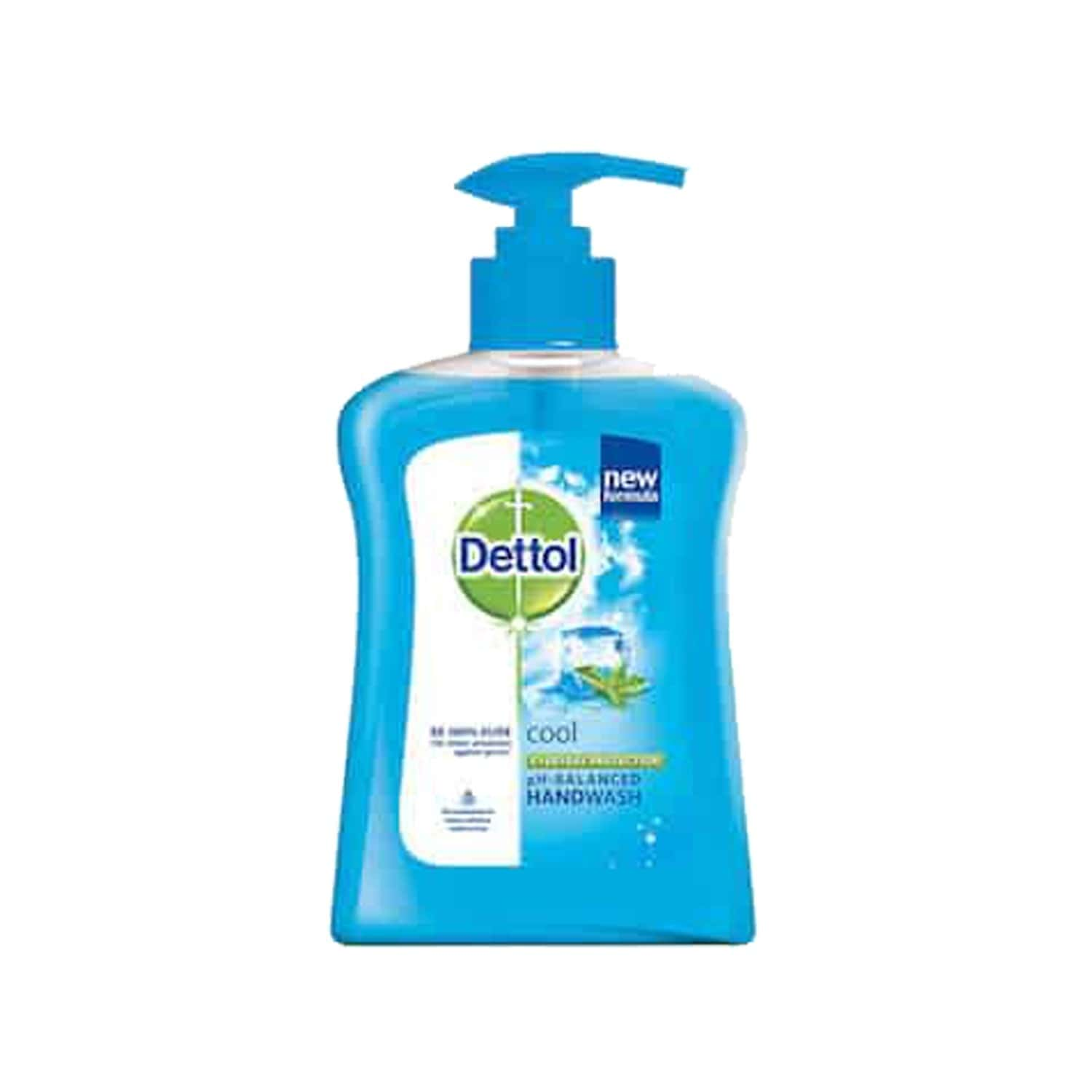 Dettol Germ Protection Liquid Hand Wash Cool 200 Ml, Get Free 185 Ml Refill Pack