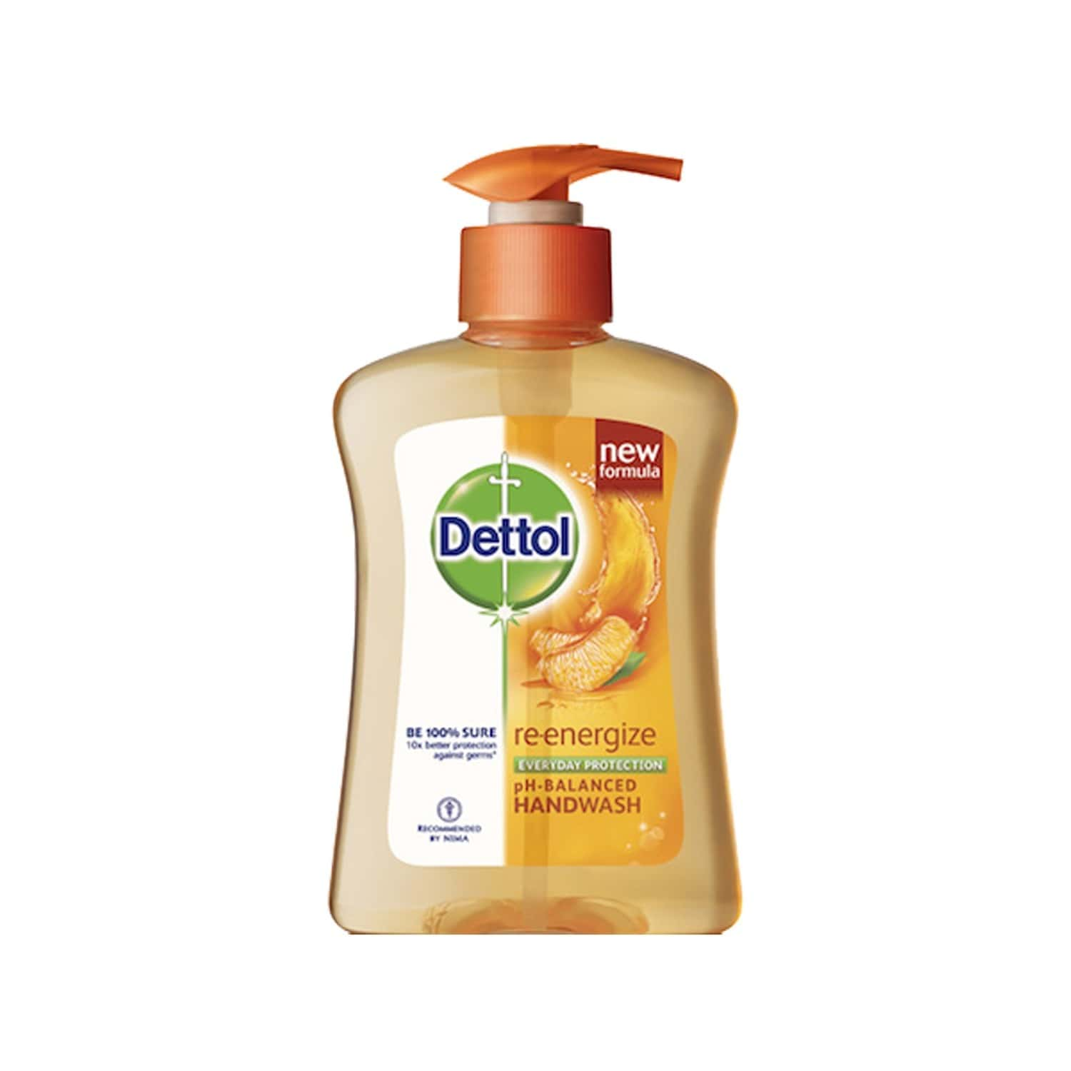 Dettol Germ Protection Liquid Hand Wash Re-energise 200 Ml, Get Free 185 Ml Refill Pack