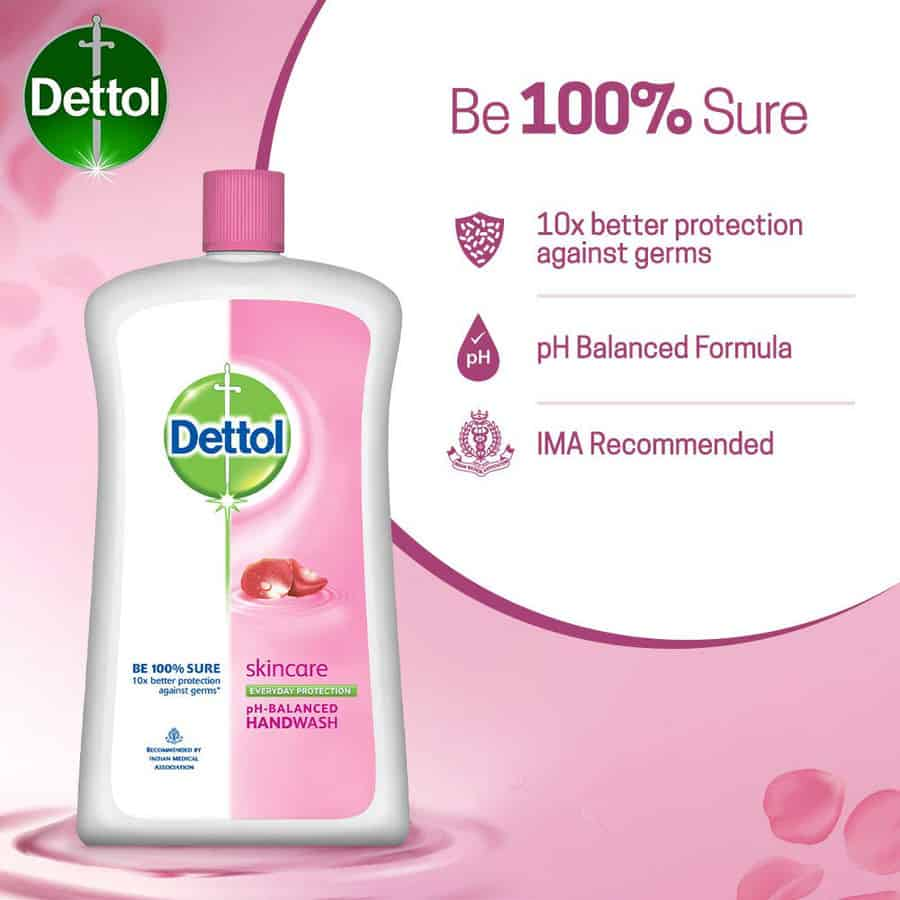 Dettol Ph-balanced Liquid Handwash Refill Jar, Skincare- 900 Ml