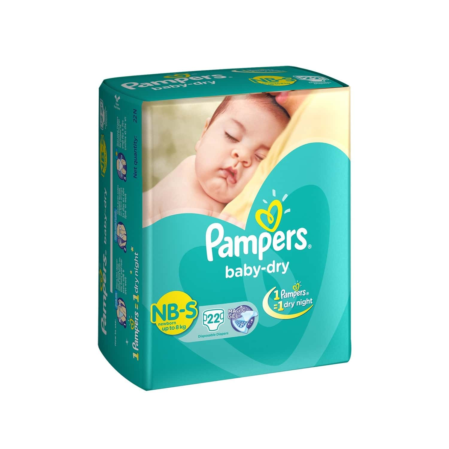 Pampers Baby Diaper Size S Packet Of 22