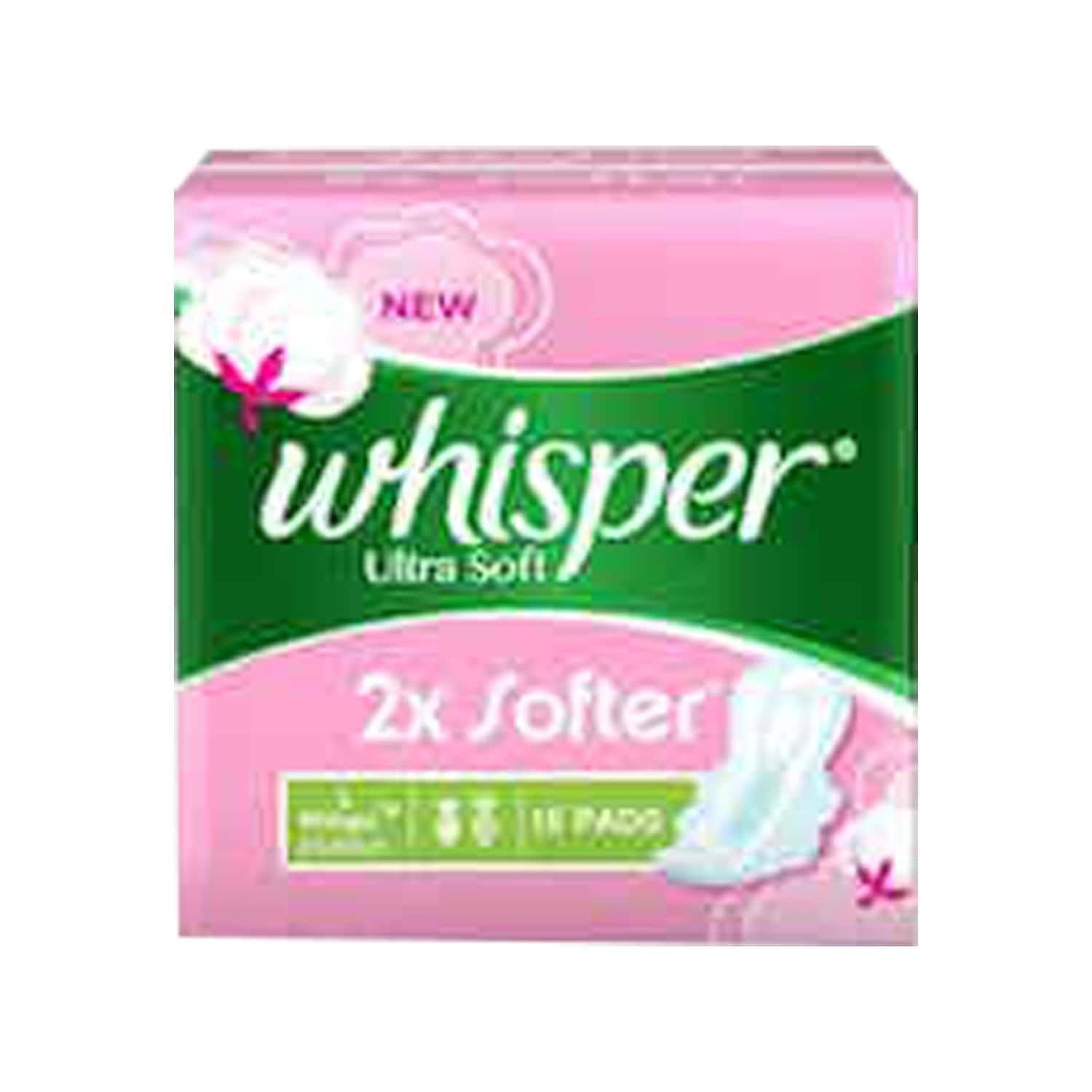 Whisper Ultra Soft Large Sanitary Pads Large 15 Pieces