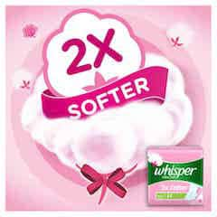 Whisper Ultra Soft Sanitary Pads Large 7 Pieces