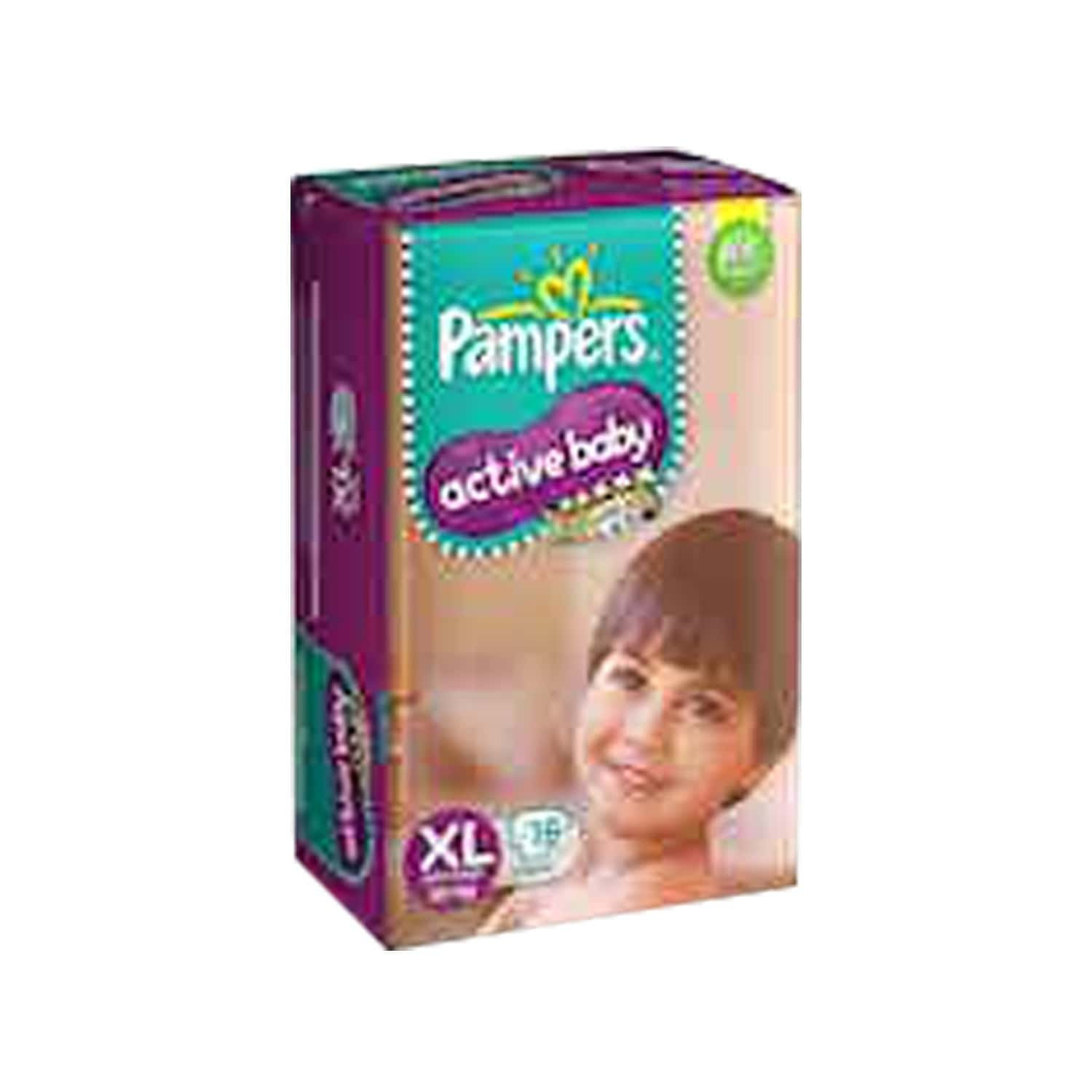 Pampers Active Baby Diapers Extra Large Size 16 Pieces