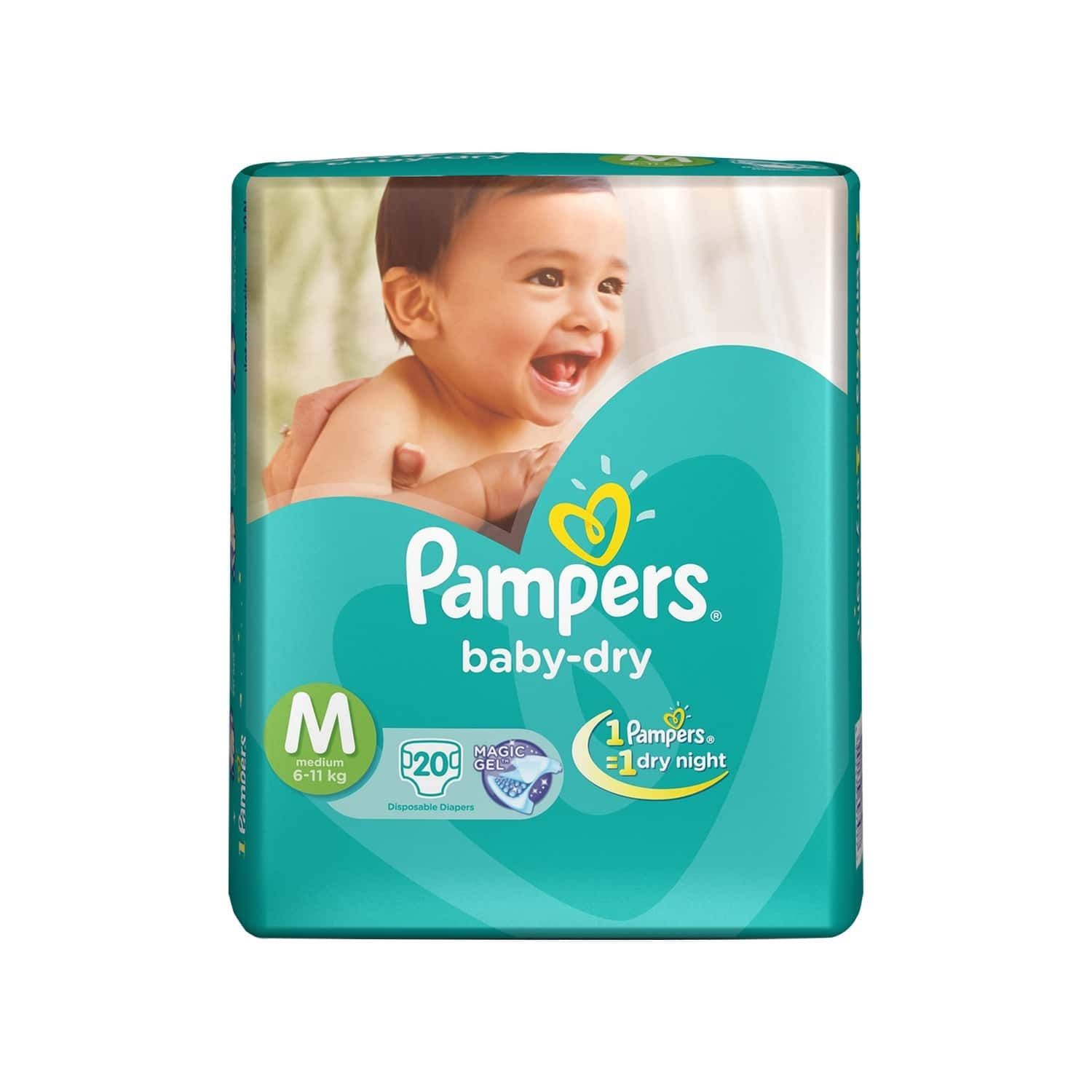 Pampers Baby Diaper Size M Packet Of 20