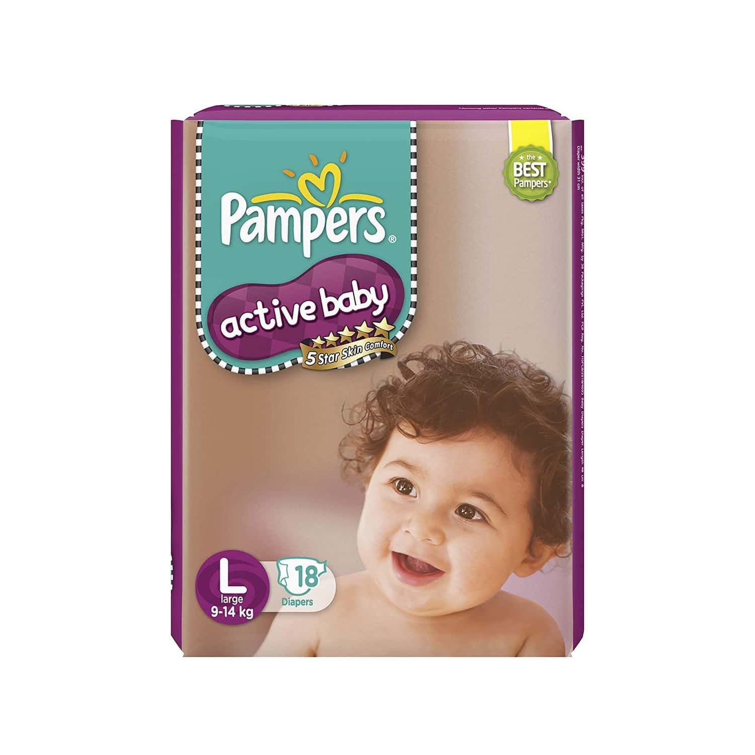 Pampers Diaper Packet Of 18 Large Size