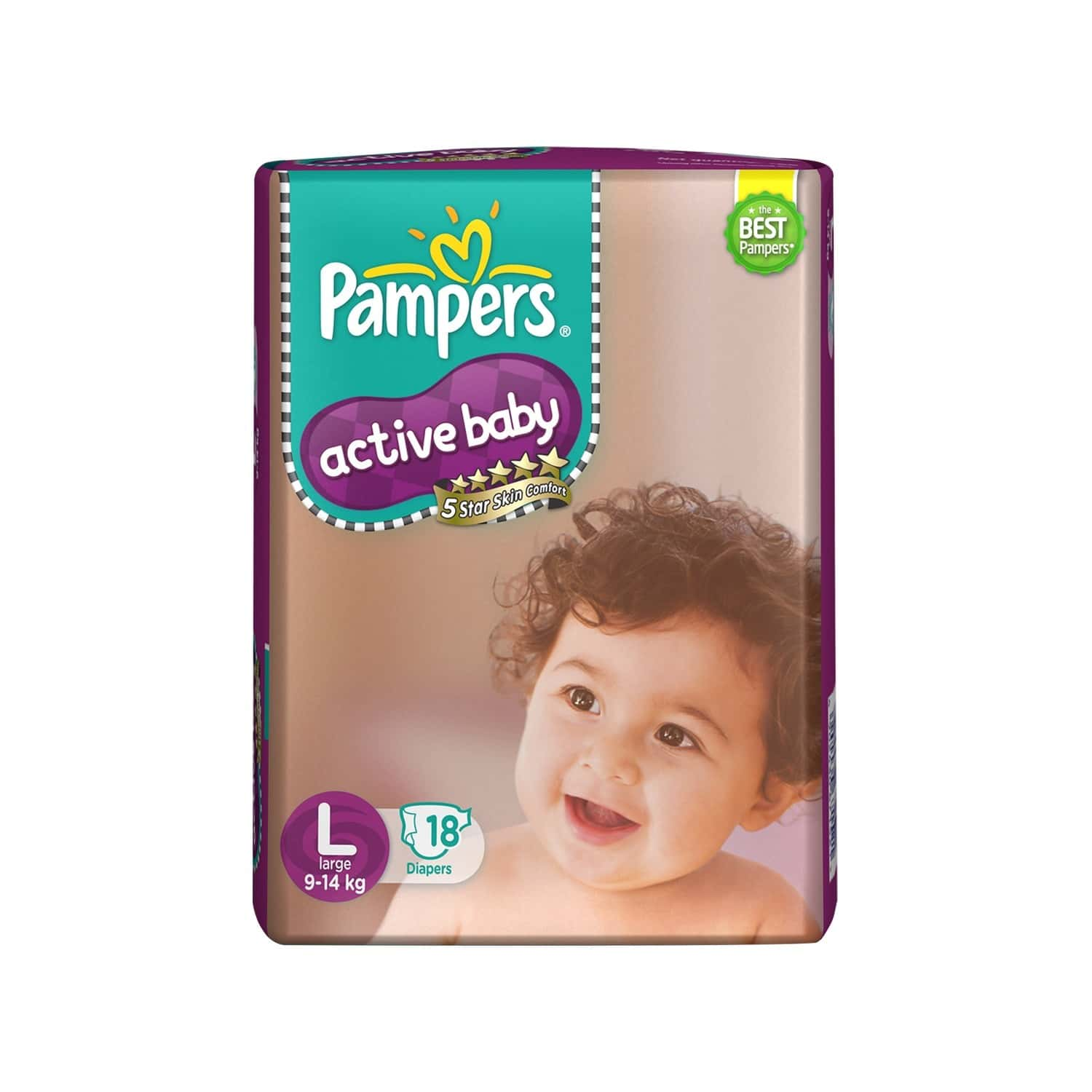 Pampers Active Baby Diaper Size L Packet Of 18