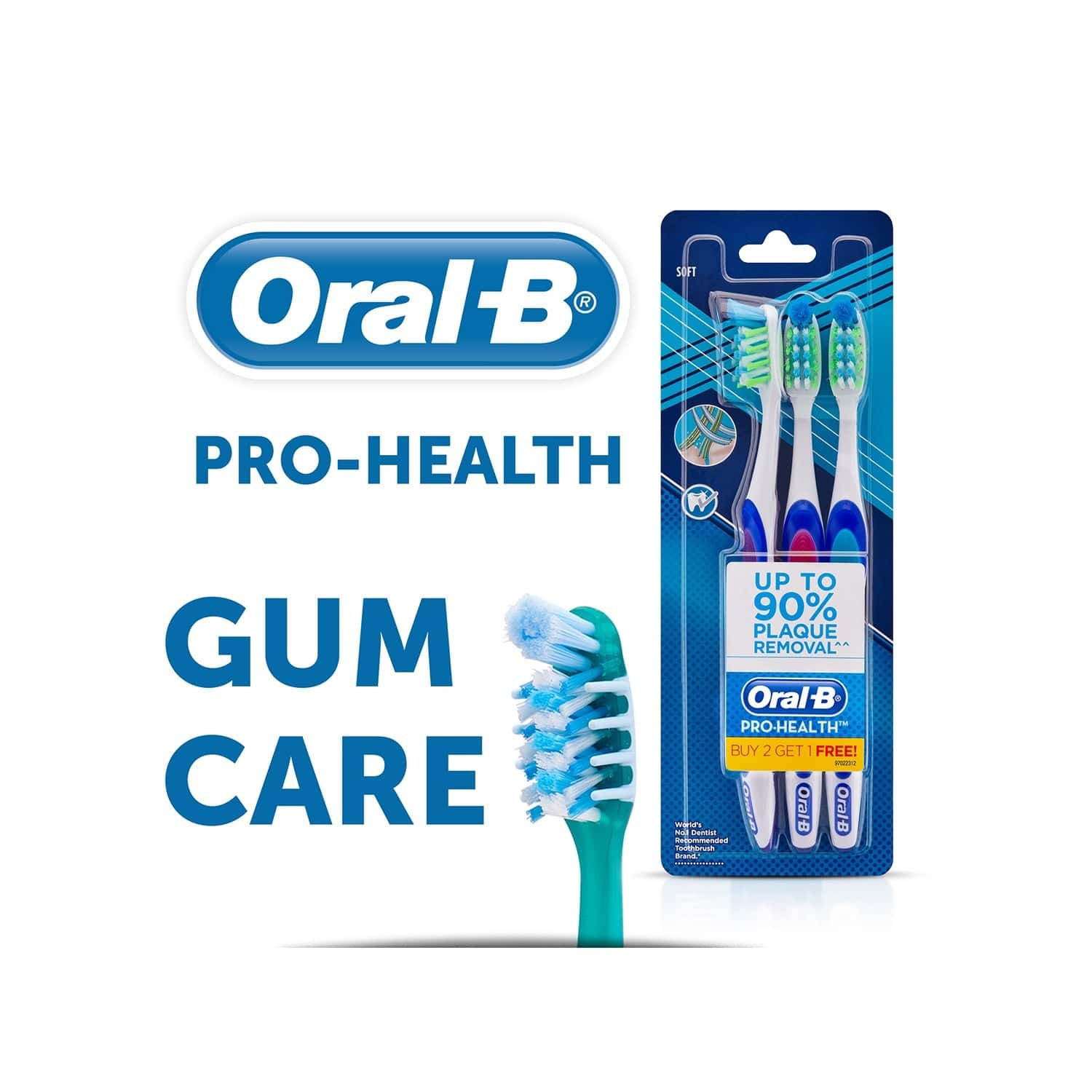 Oral-b Pro Health Gum Care Soft Manual  Toothbrush (buy 2 Get 1 Free) Packet Of 3