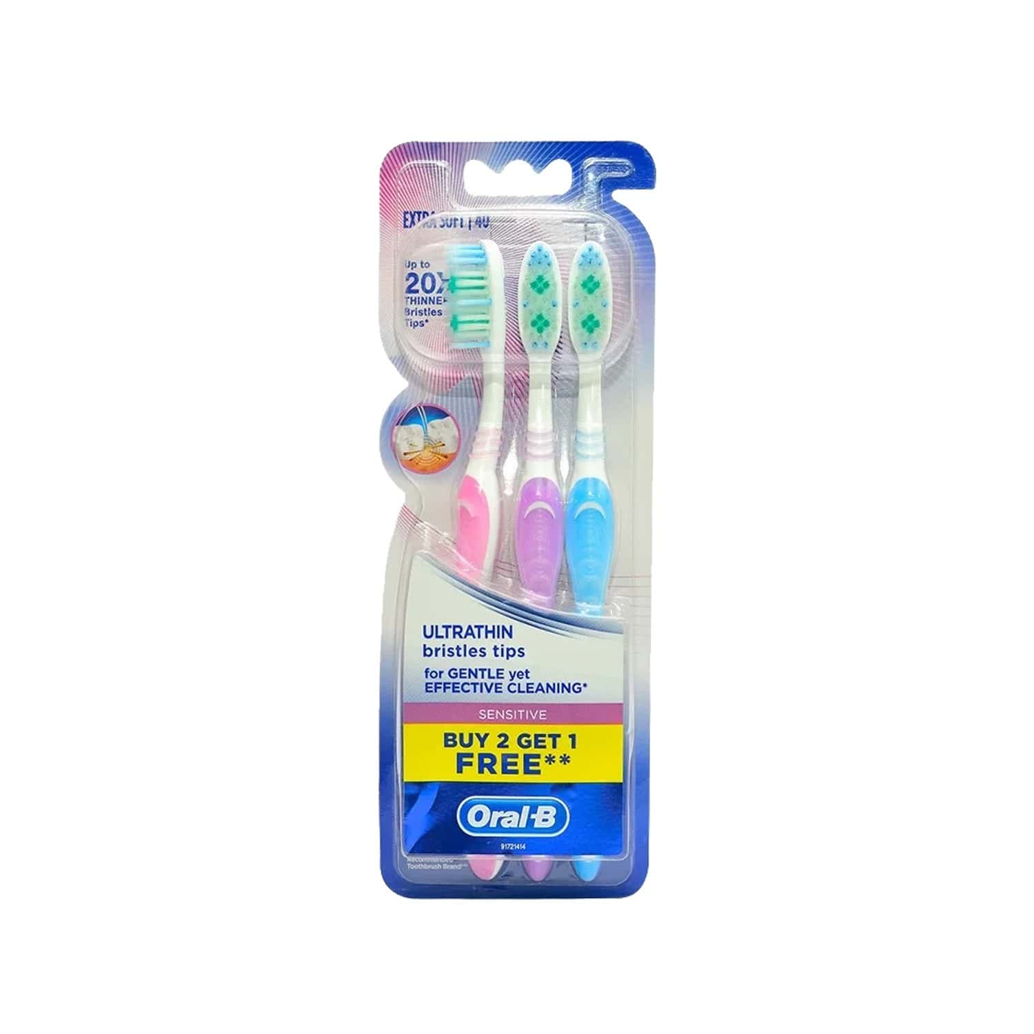 Oral-b Ultrathin Sensitive Toothbrush Buy 2 Get 1 Free