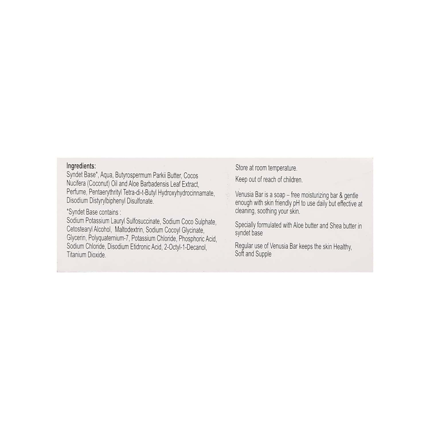 Venusia Cleansing And Moisturising Syndet Bar - 75gm