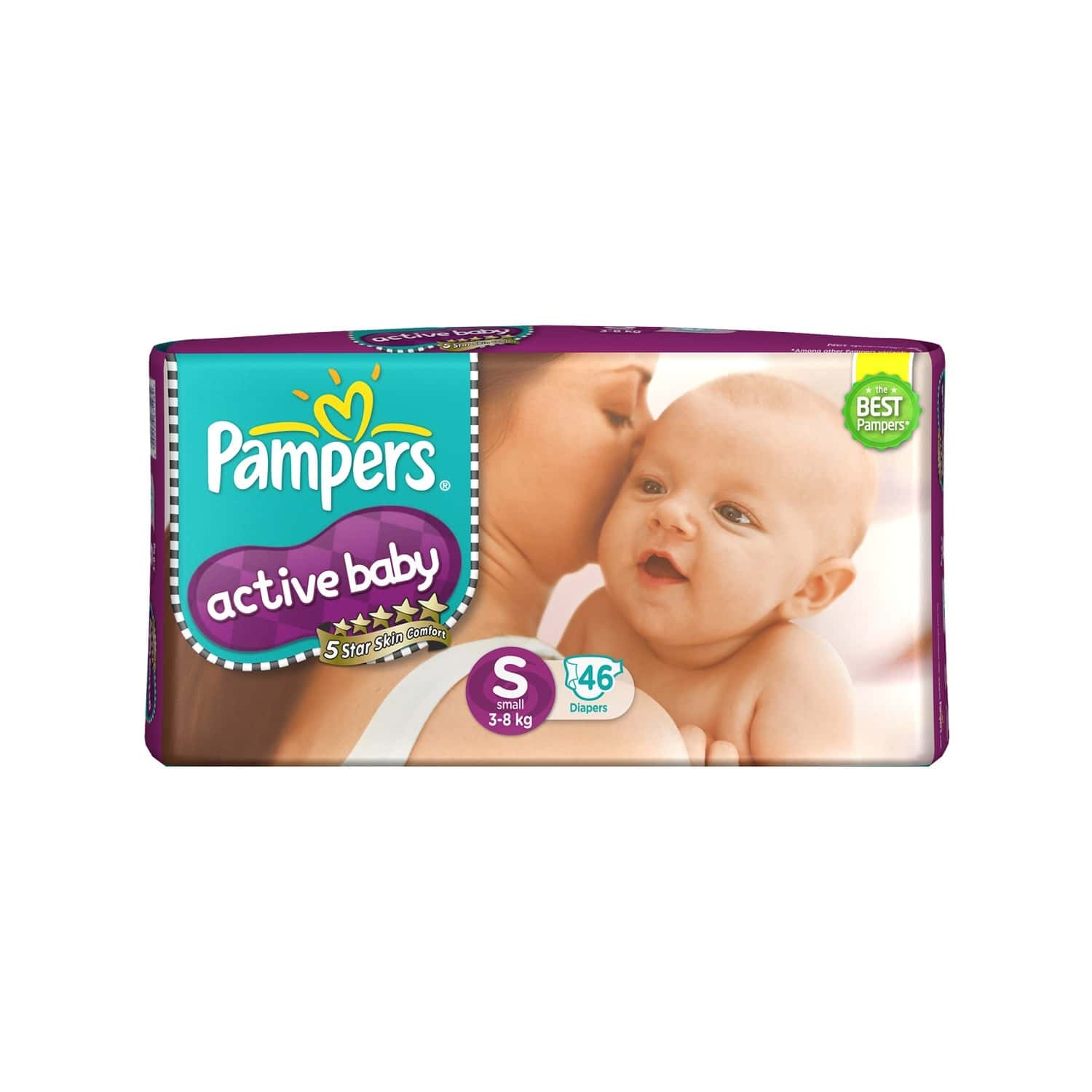 Pampers Active Baby Diapers Small Size 46 Pieces Pack
