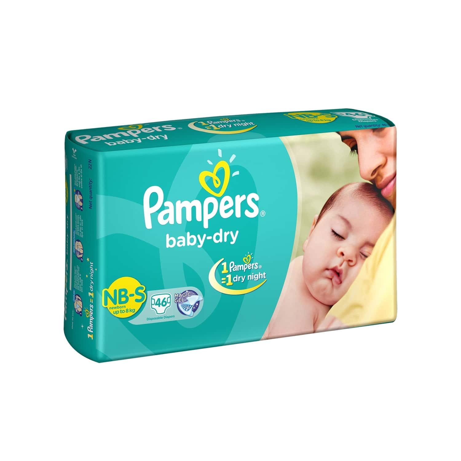 Pampers Baby Diapers Taped Small Size 46 Pieces Pack