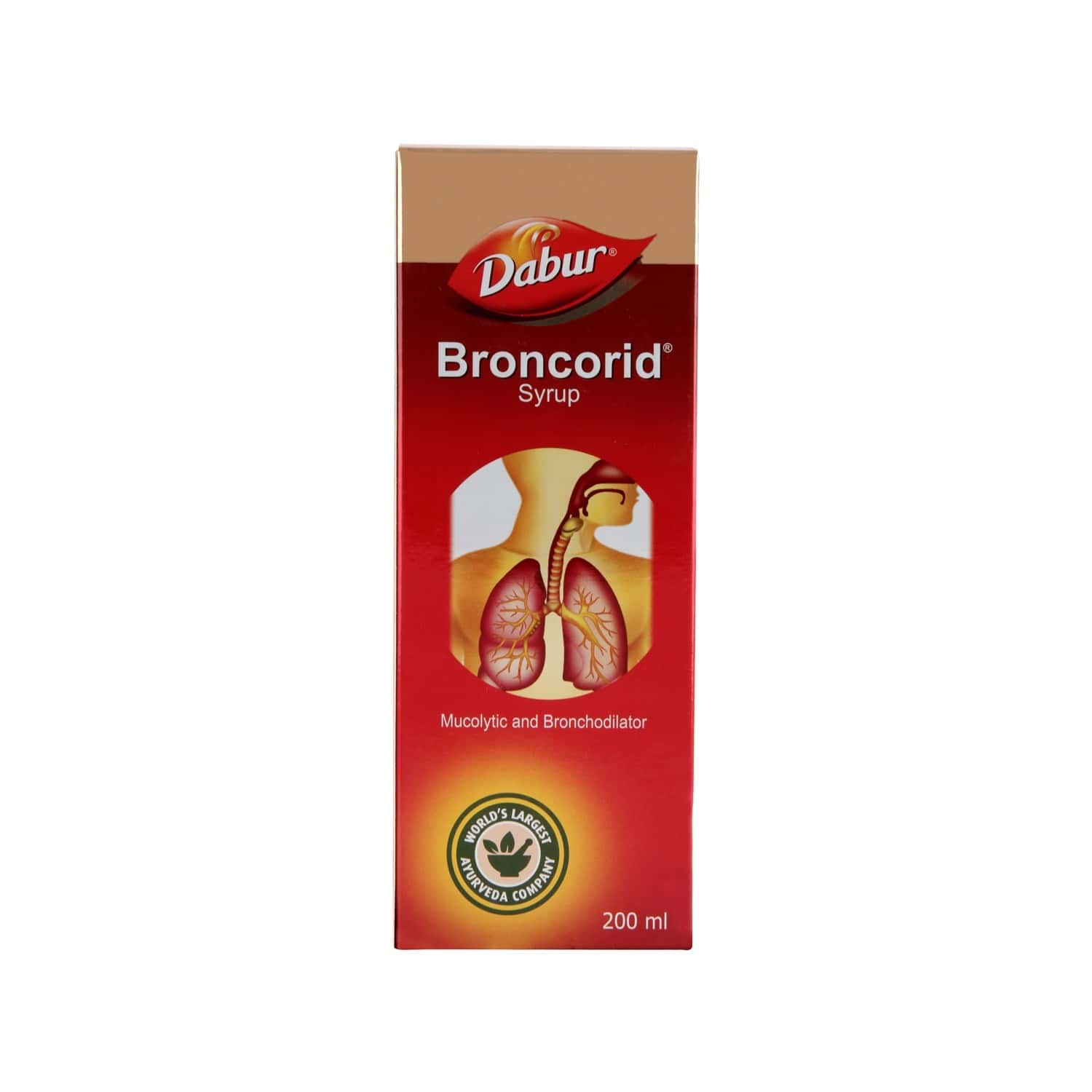 Dabur Broncorid Cough Syrup Bottle Of 200 Ml
