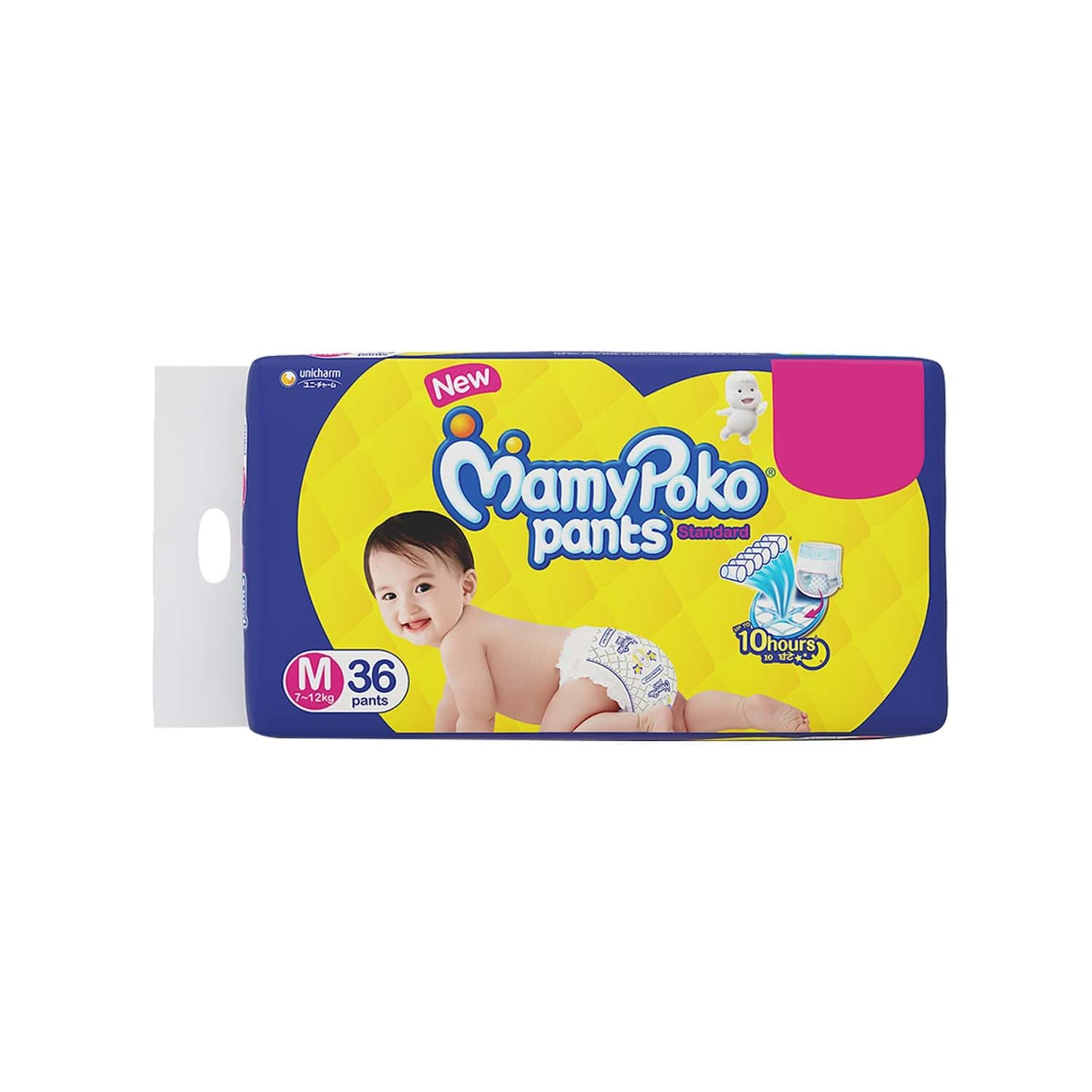 Mamy Poko Pants Standard Pant Style Medium Size Diapers - 36 Count