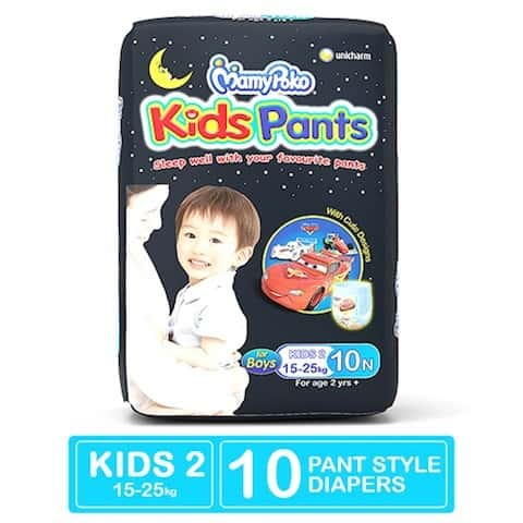 Mamypoko Kids Pants Diaper For Boys Above 2 Years Kids - 2 Size Pack Of 10