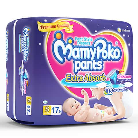 Mamypoko Pants Extra Absorb Diaper Small Size Pack Of 17