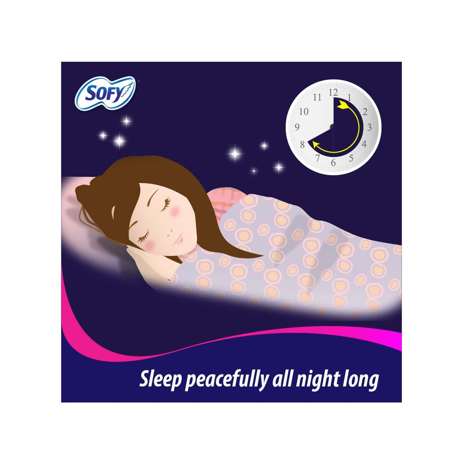 Sofy Bodyfit Overnight (sanitary Pads For Night) Xxl Size (350 Mm) Pack Of 20