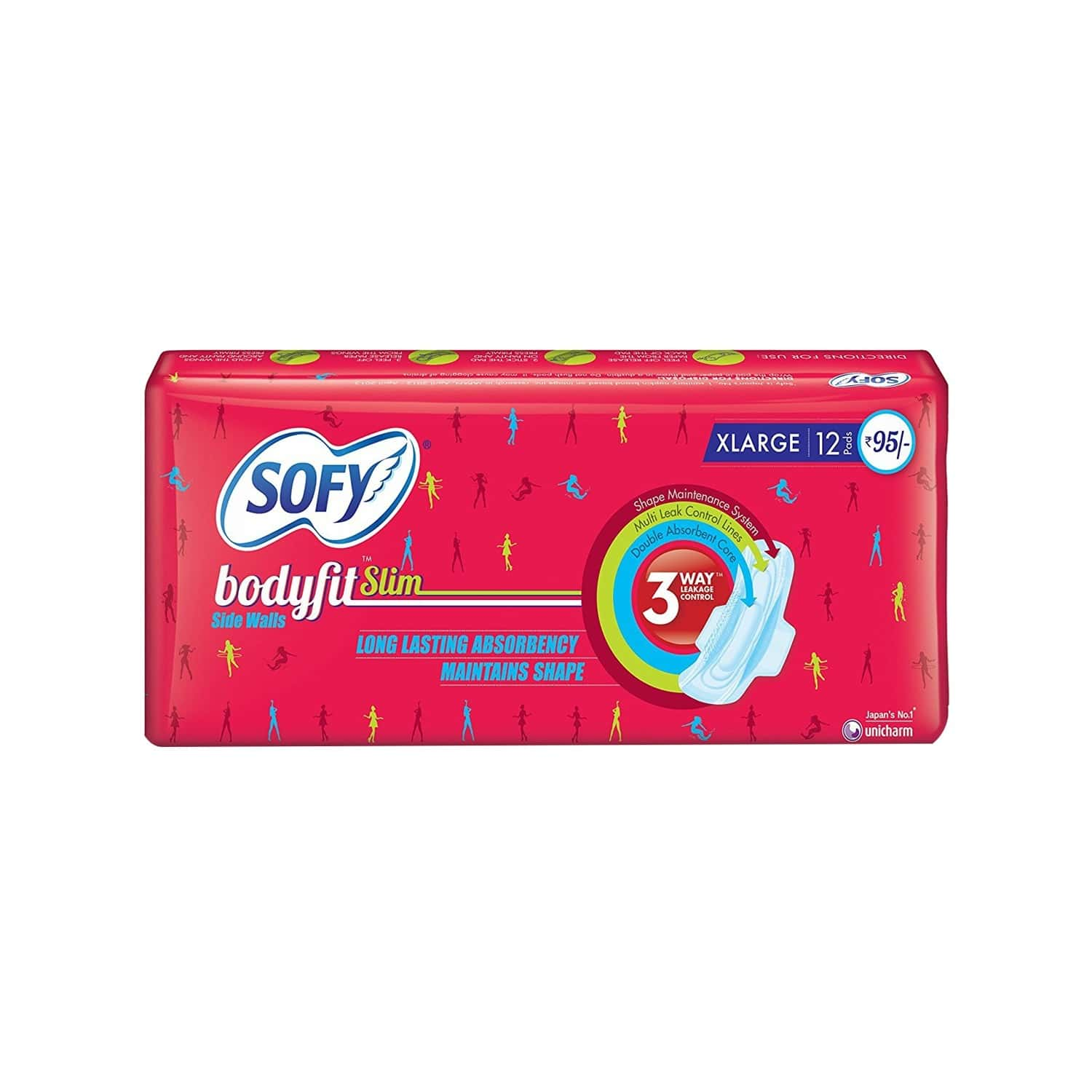 Sofy Bodyfit Slim Sanitary Pads Extra Large Pack Of 12