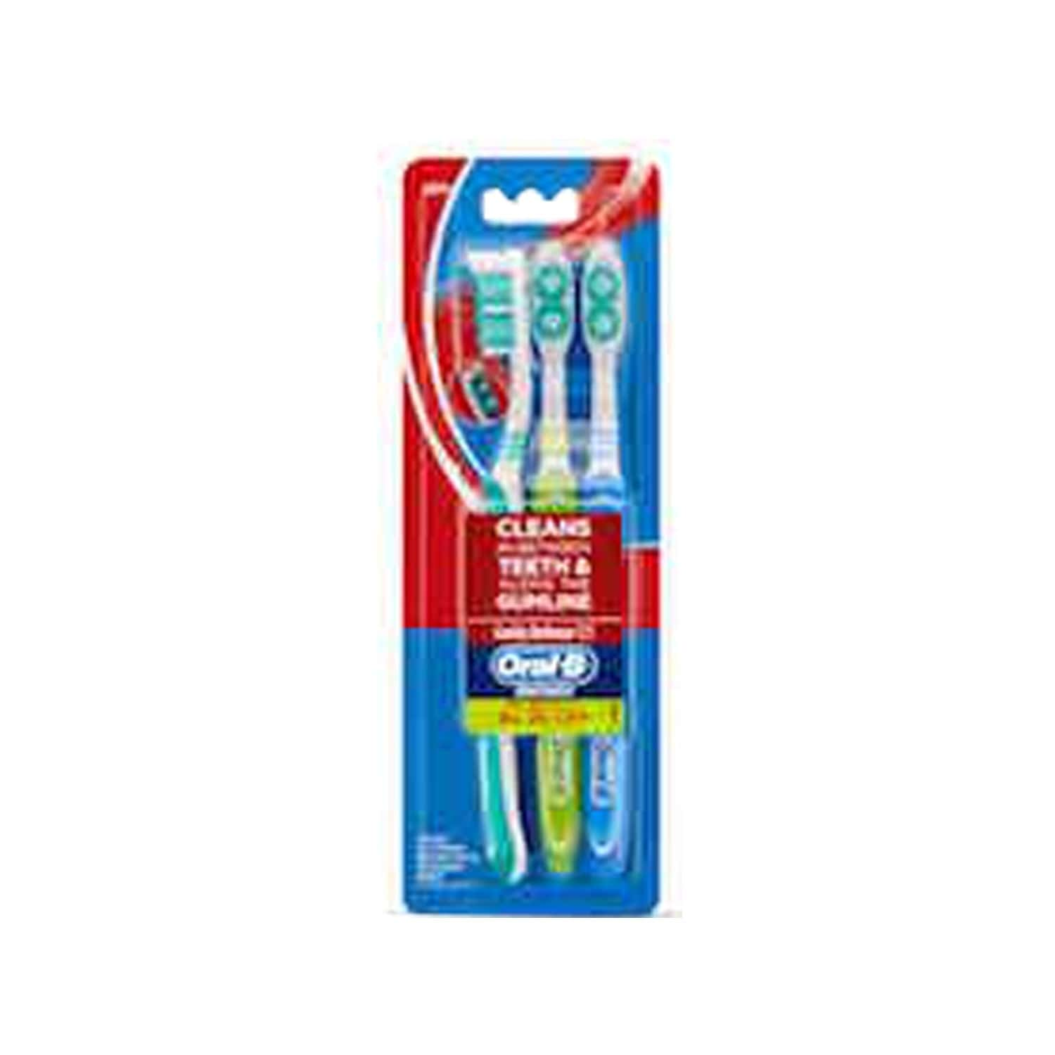 Oral-b All Rounder Cavity Defence 123 Toothbrush Soft 3 Piece