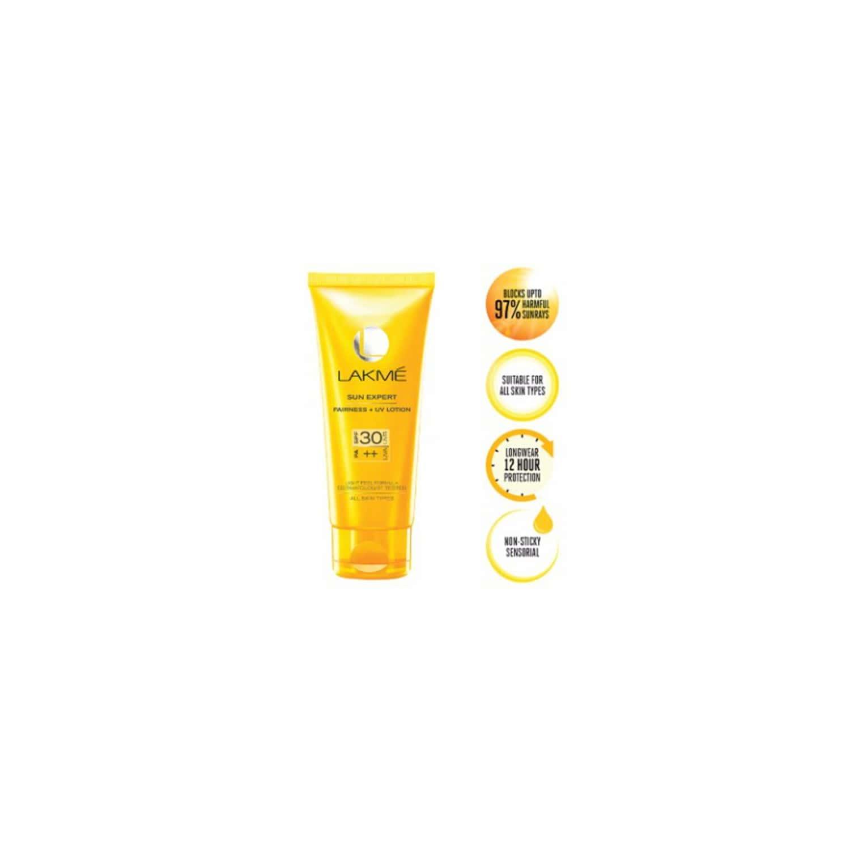 Lakme Sun Expert Fairness Uv Sunscreen Lotion, Spf 30 Pa 50 Ml