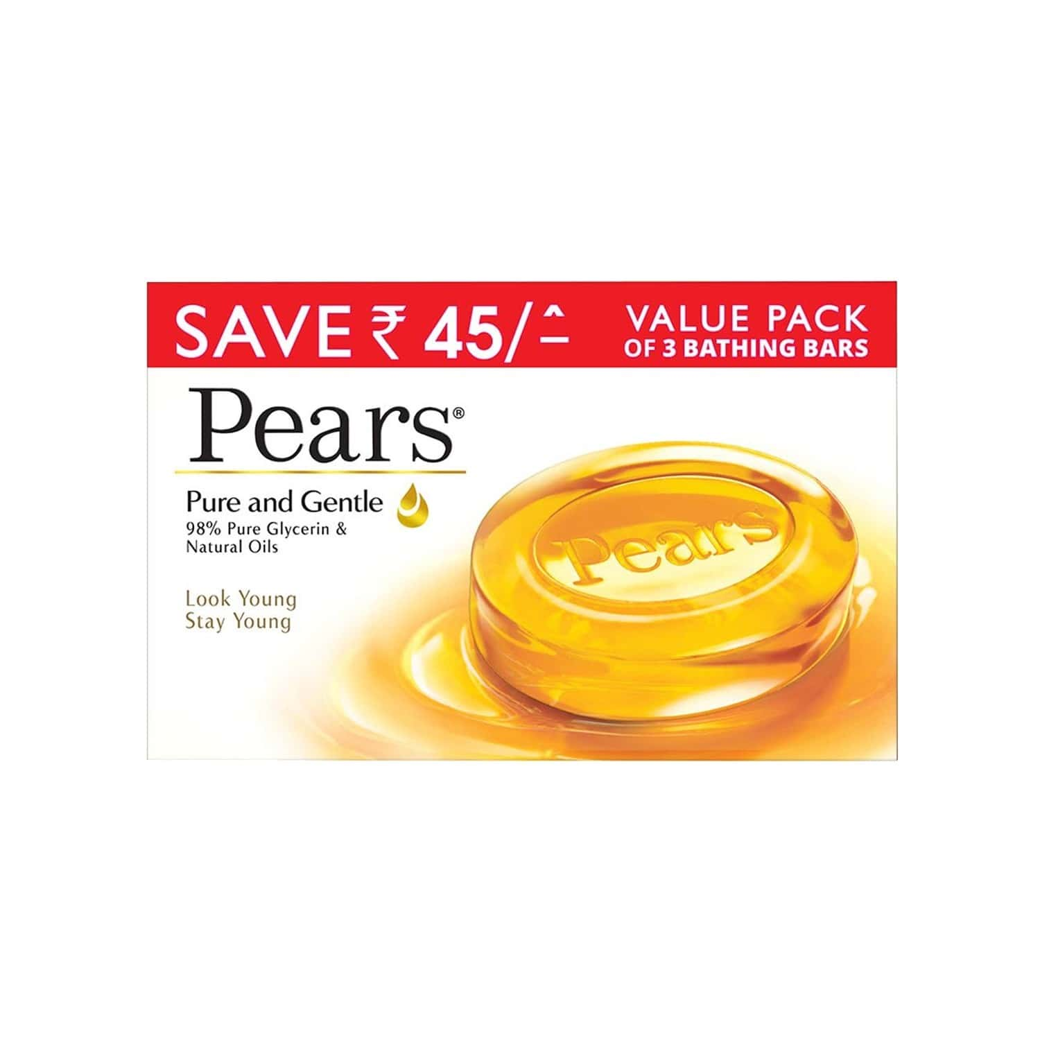 Pears Pure & Gentle (pack Of 3) Soap Box Of 125 G