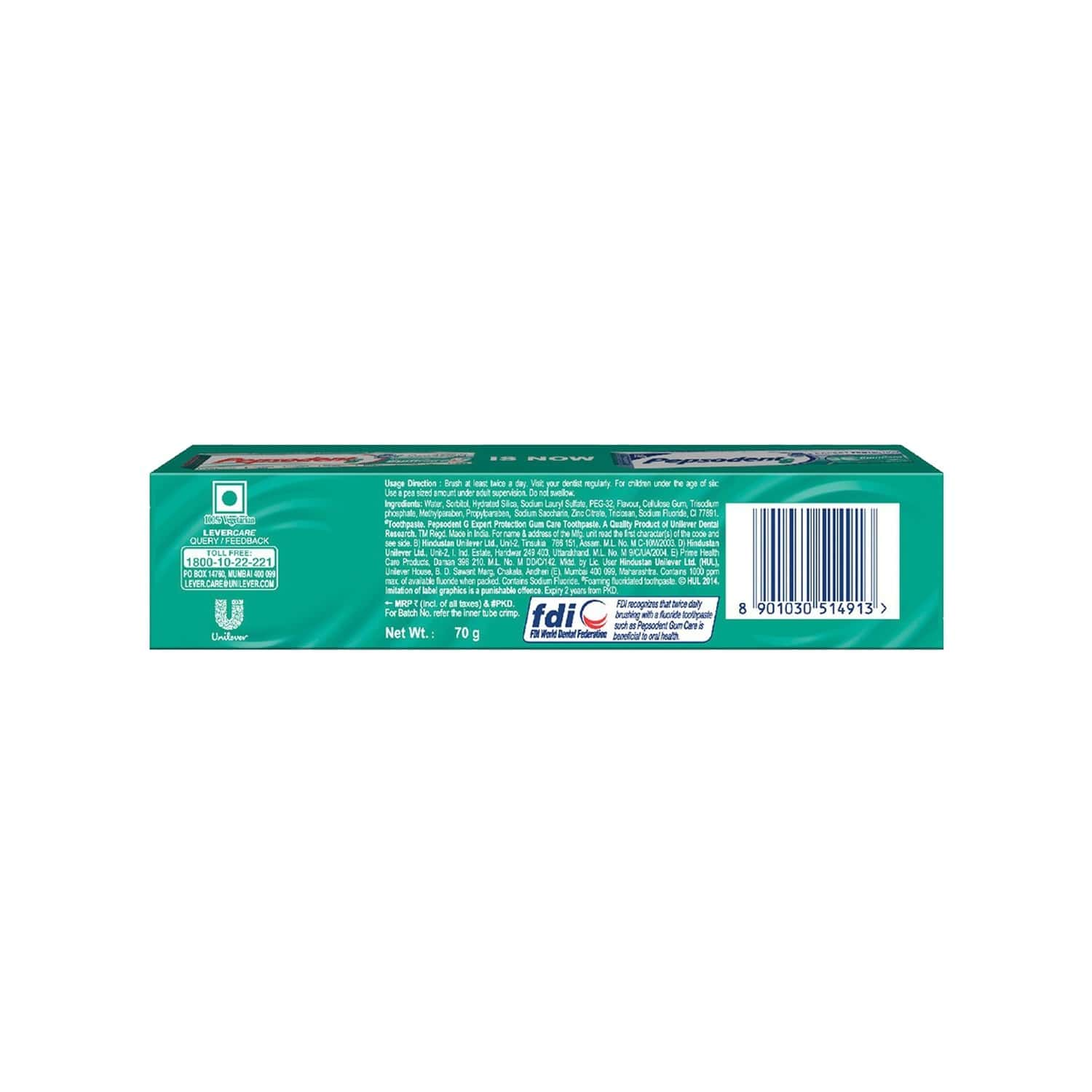 Pepsodent Expert Protection Gum Care Toothpaste Tube Of 70 G